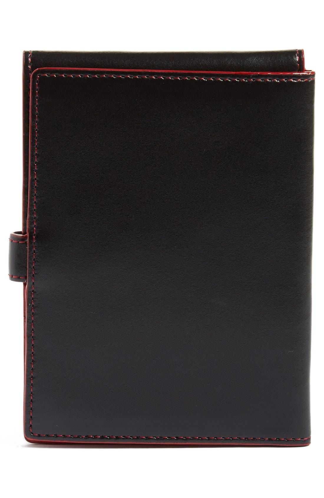 Audrey RFID Leather Passport Wallet,                             Alternate thumbnail 2, color,                             BLACK