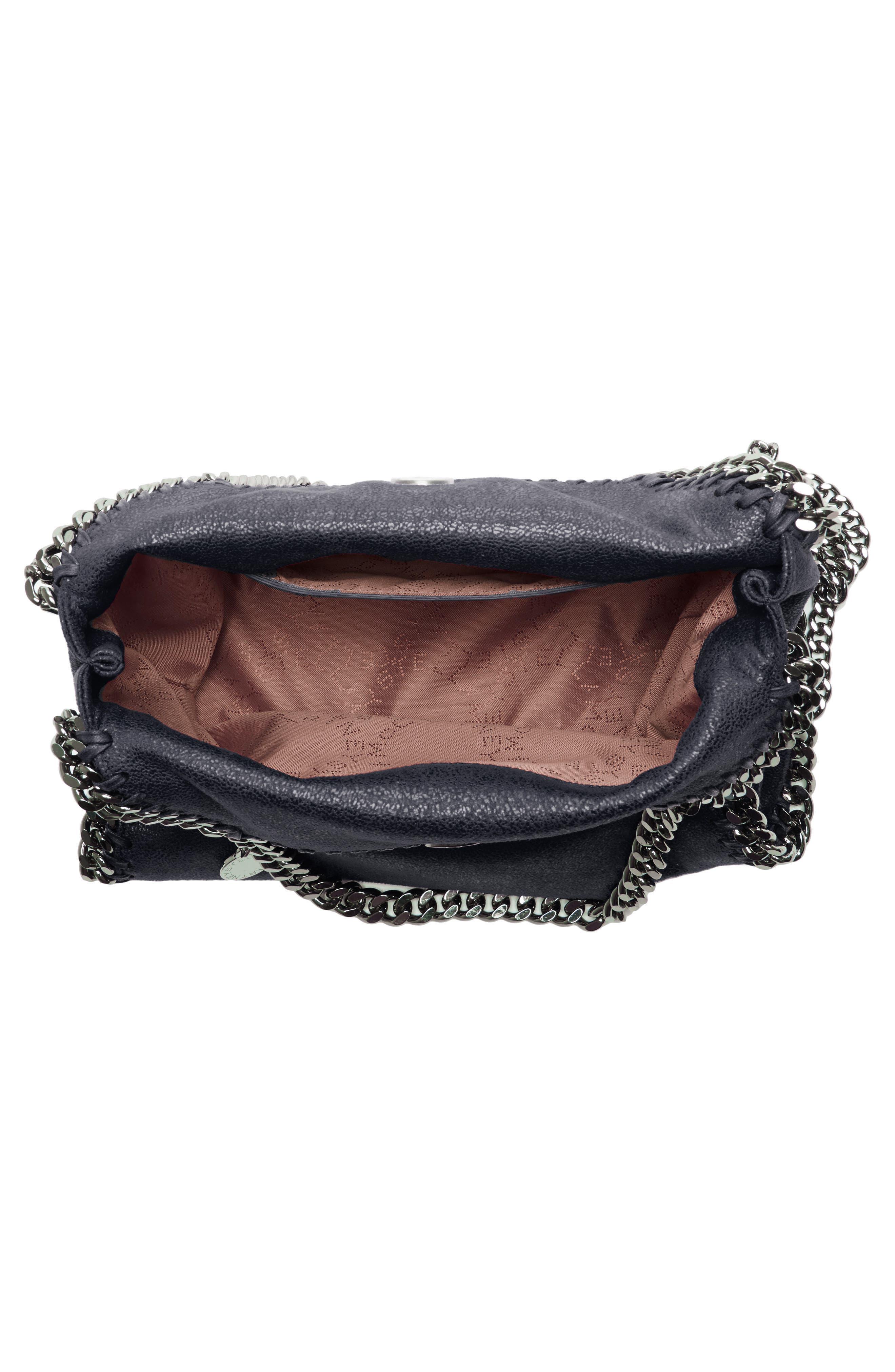 'Mini Falabella - Shaggy Deer' Faux Leather Tote,                             Alternate thumbnail 2, color,                             BLACK W/ SILVER