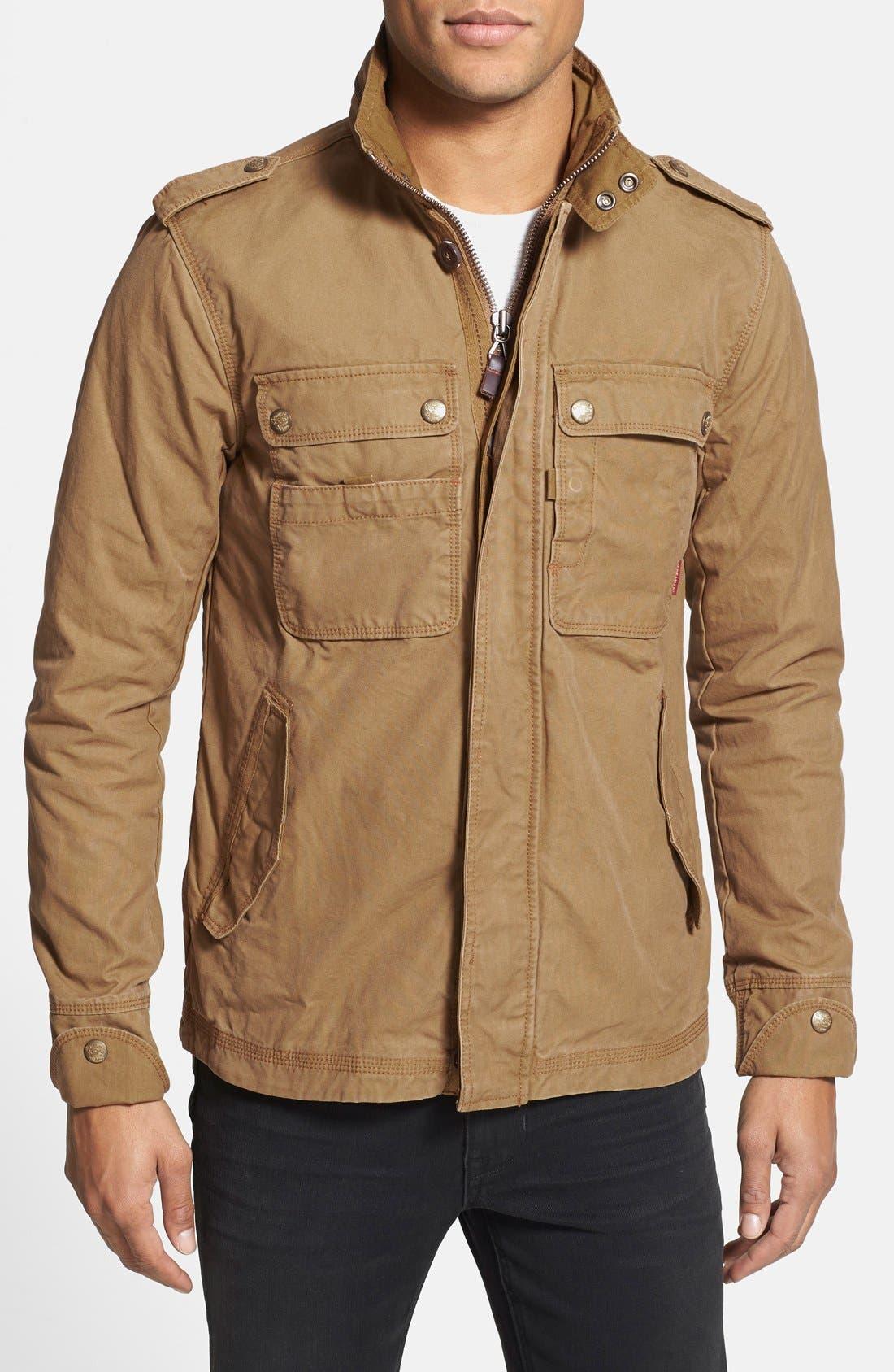 'Paxton' Military Jacket with Stowaway Hood,                             Main thumbnail 3, color,