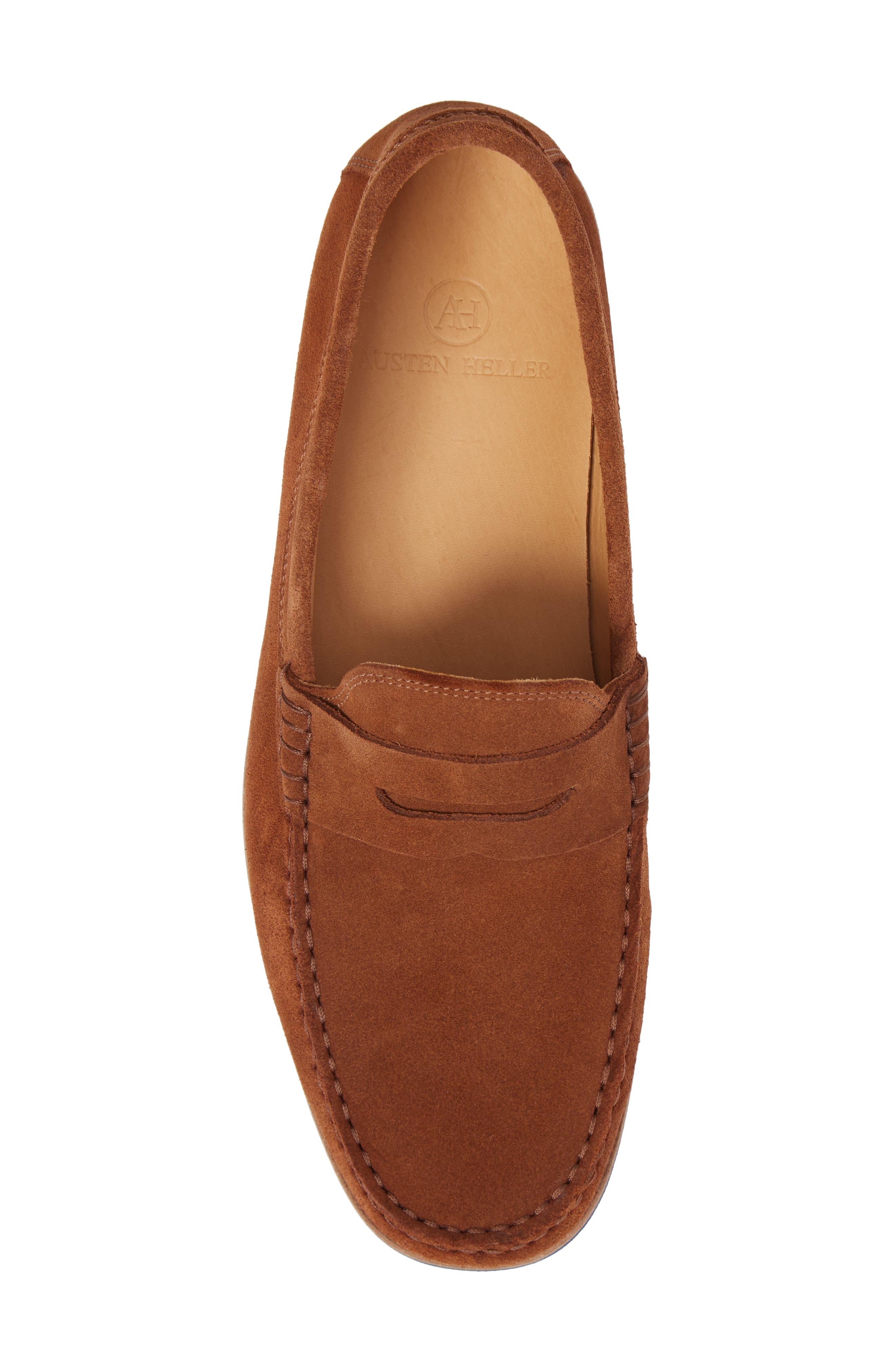 Kennedy Penny Loafer,                             Alternate thumbnail 5, color,                             MEDIUM BROWN SUEDE