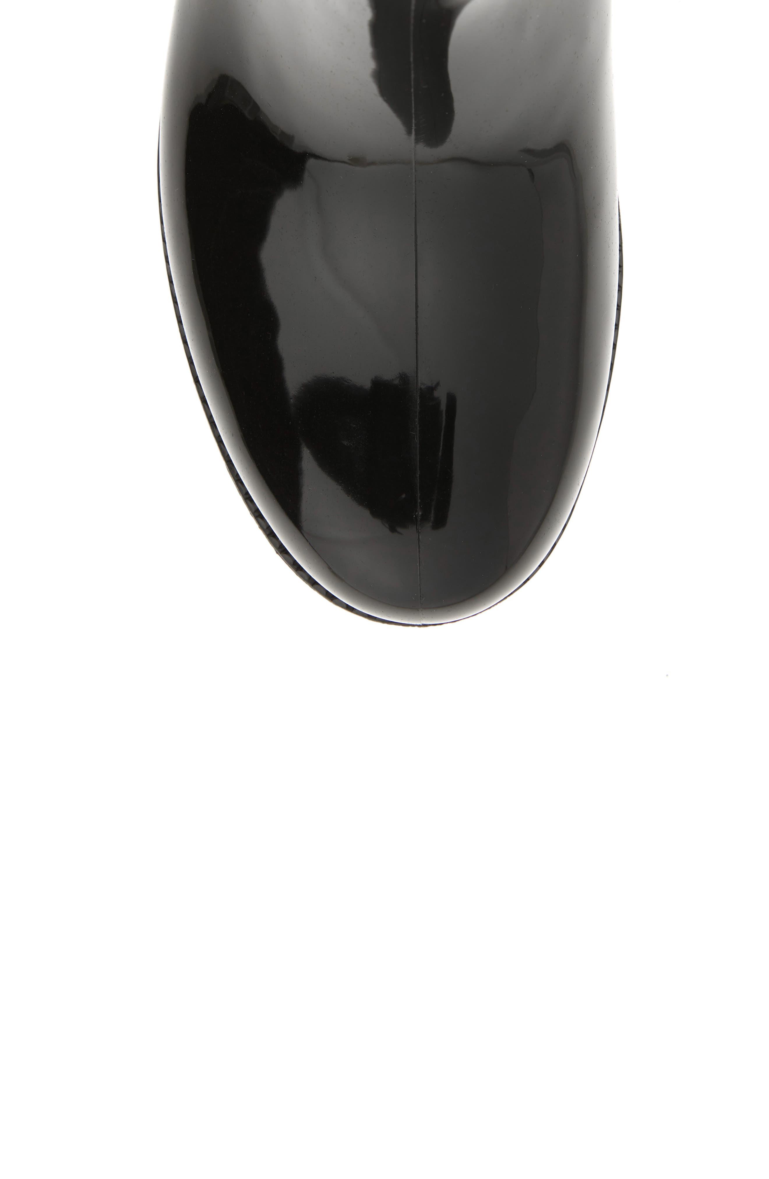 Parma 2 Tall Waterproof Rain Boot,                             Alternate thumbnail 5, color,                             BLACK FABRIC