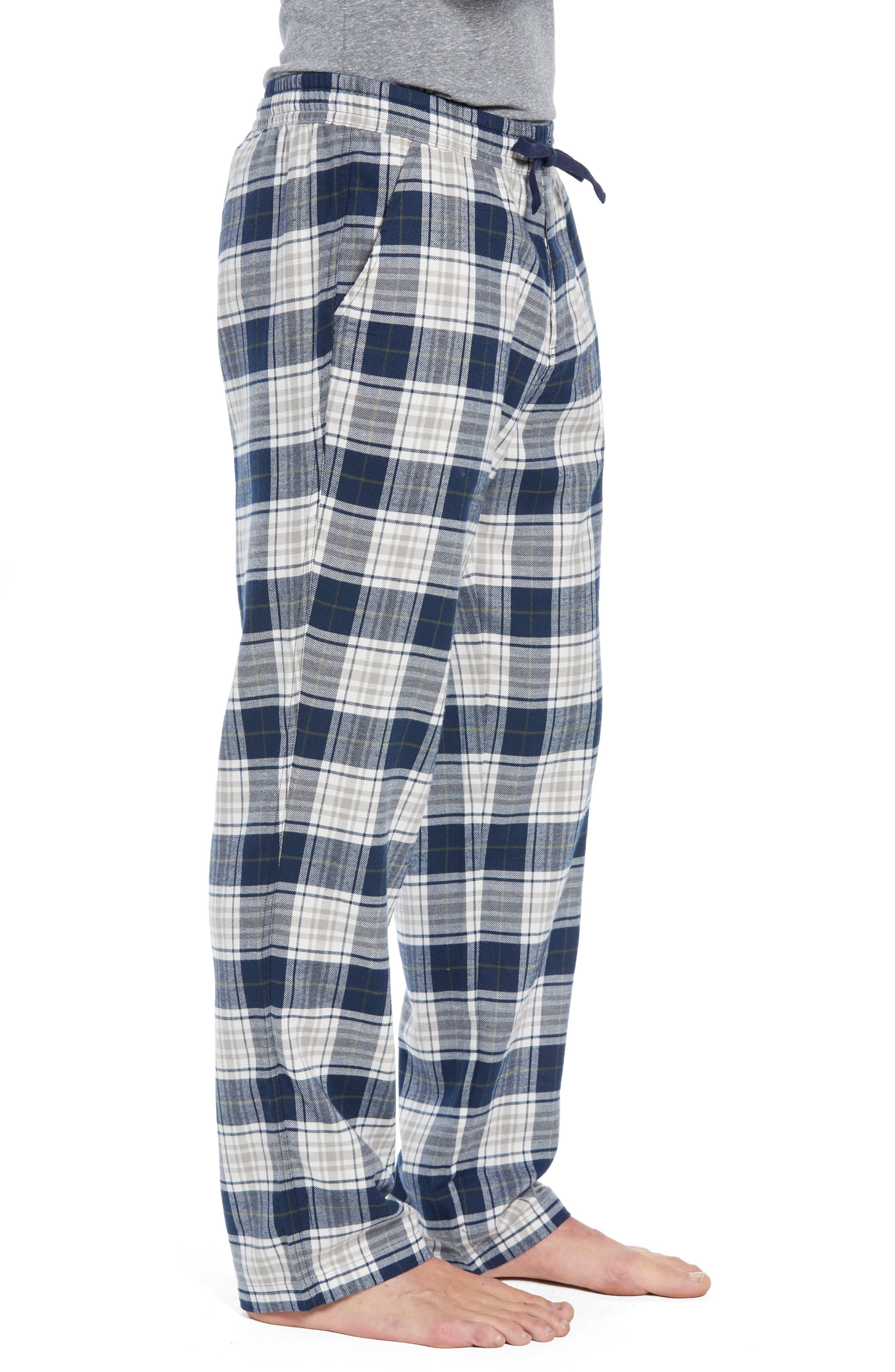 Steiner Pajama Set,                             Alternate thumbnail 3, color,                             NAVY/ GREY HEATHER