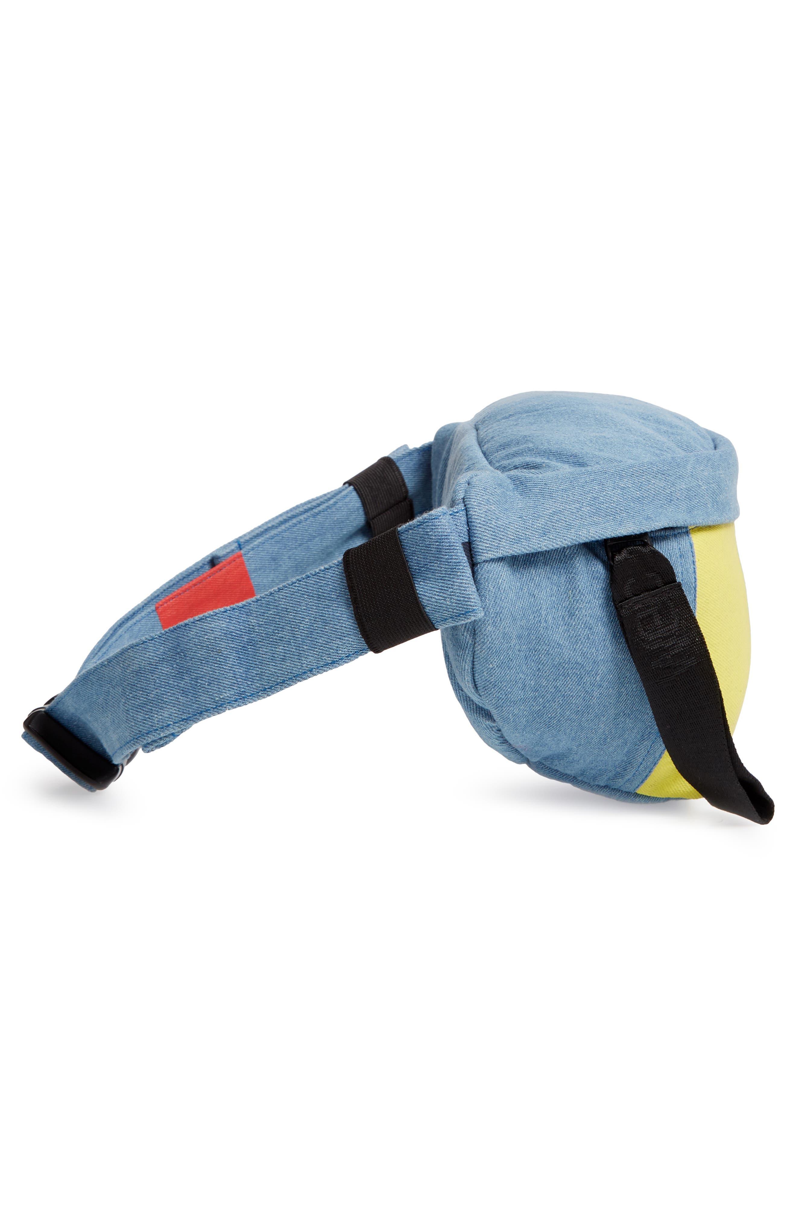 WESC,                             Usher Colorblock Denim Belt Bag,                             Alternate thumbnail 6, color,                             CERULEAN BLUE