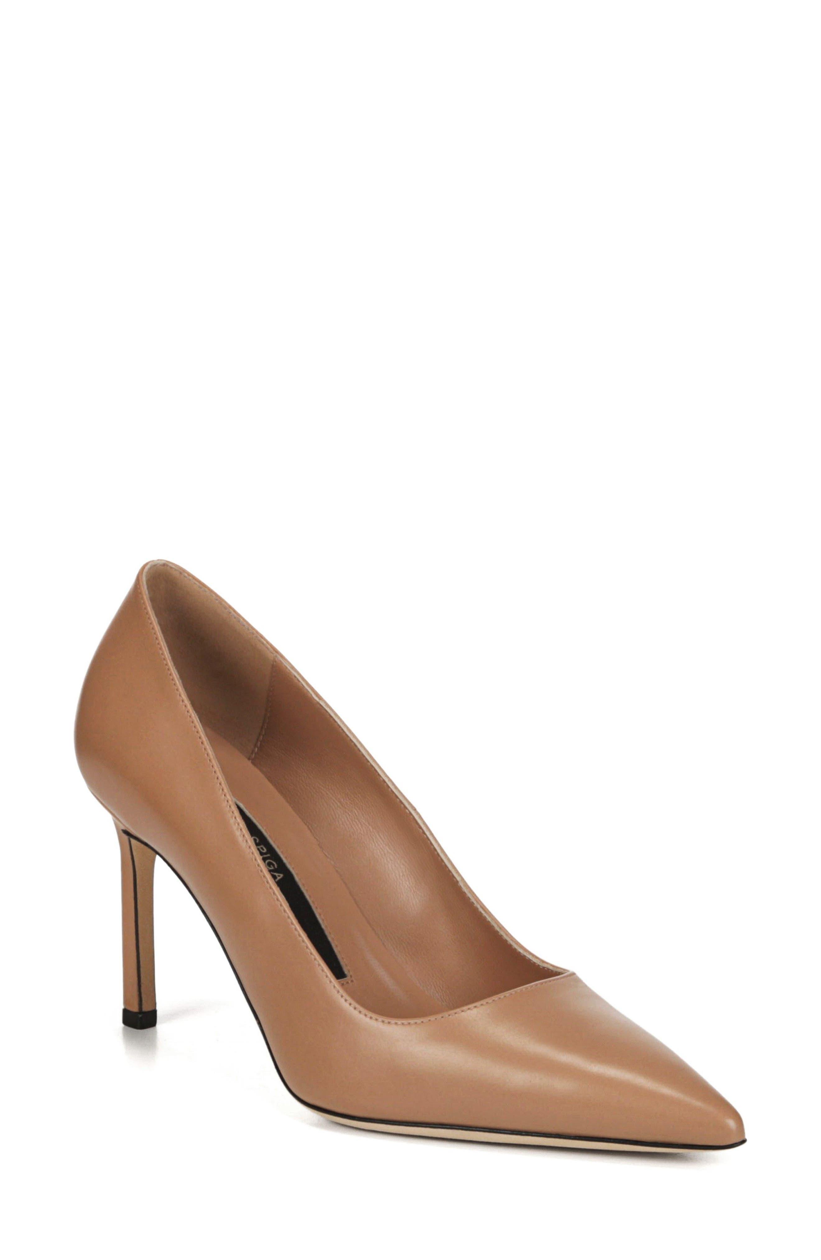 VIA SPIGA Women'S Nikole Leather Pointed Toe High-Heel Pumps in Desert Leather