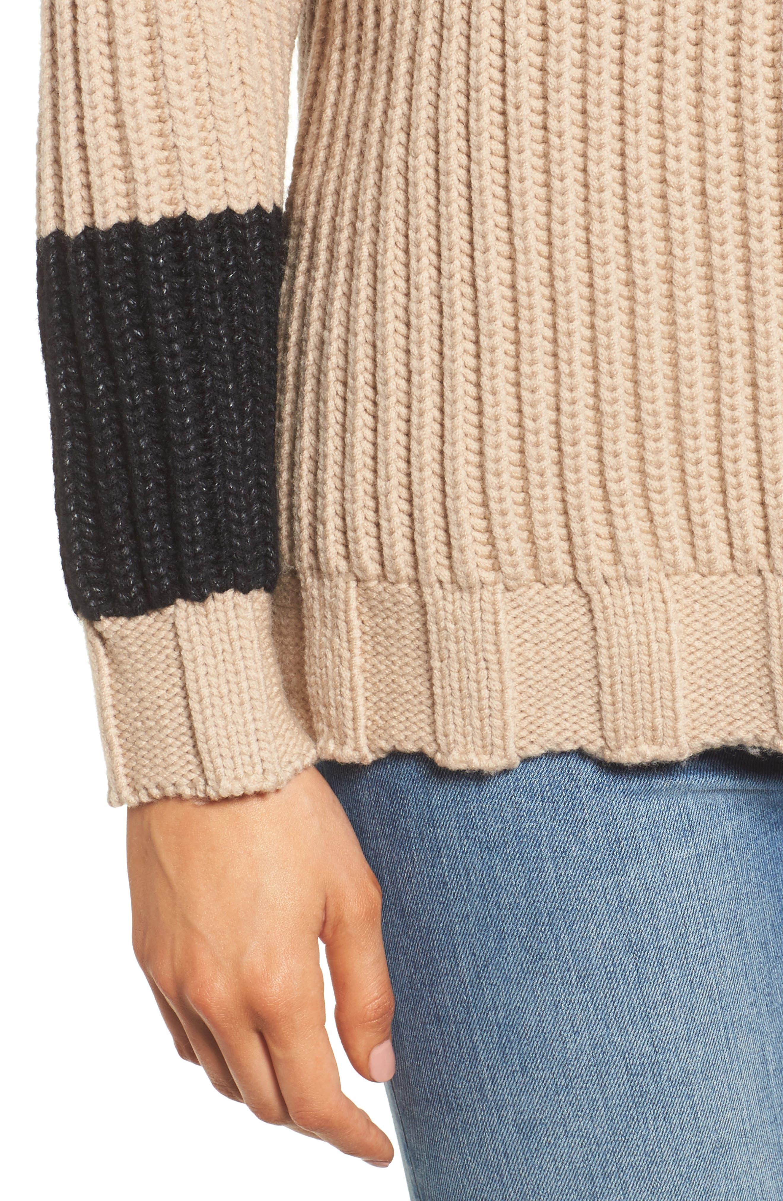 Chunky Armband Sweater,                             Alternate thumbnail 8, color,