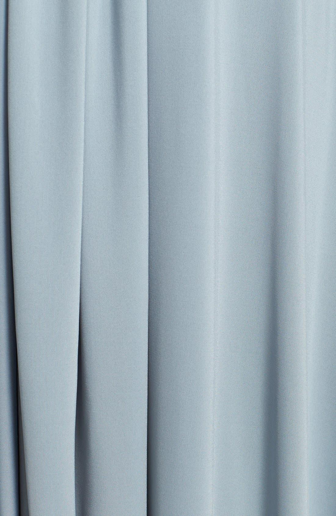 Convertible Wrap Tie Surplice Jersey Gown,                             Alternate thumbnail 5, color,                             033