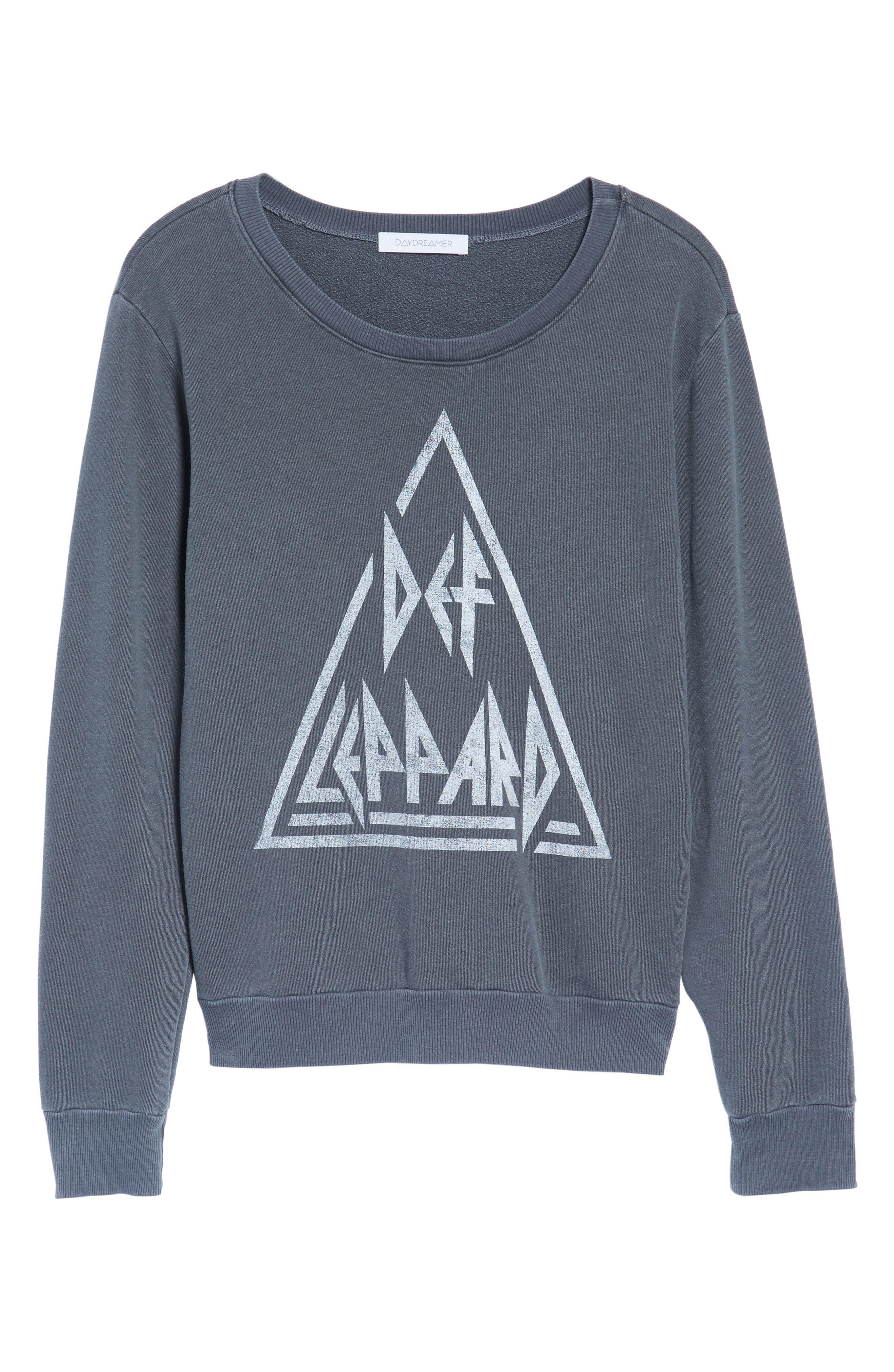 Def Leppard Sweatshirt,                             Alternate thumbnail 6, color,                             001