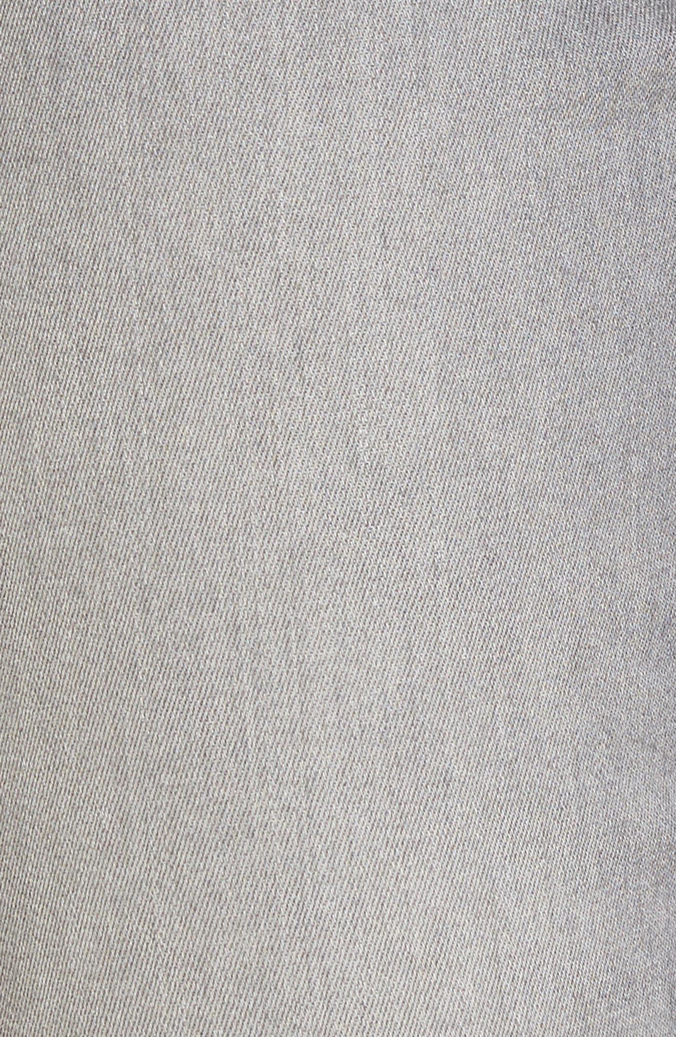 High Waist Ankle Skinny Jeans,                             Alternate thumbnail 6, color,