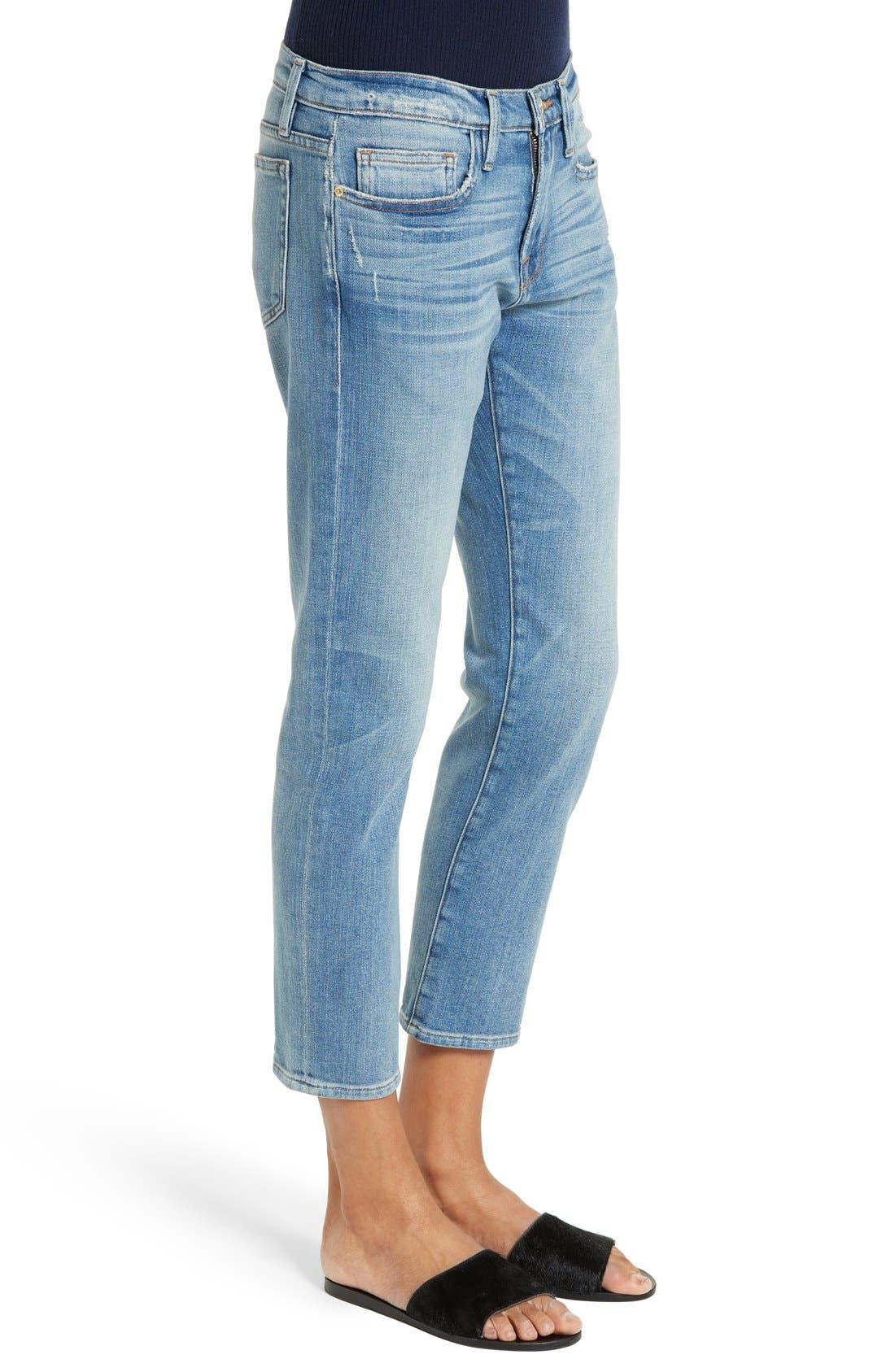 Le Boy Crop Jeans,                             Alternate thumbnail 5, color,                             420