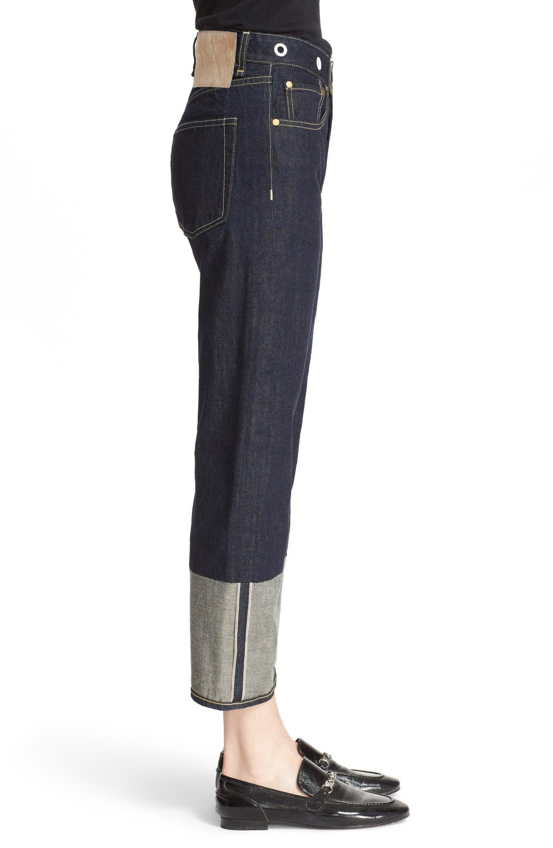 RBW16 High Rise Crop Jeans,                             Alternate thumbnail 3, color,                             470