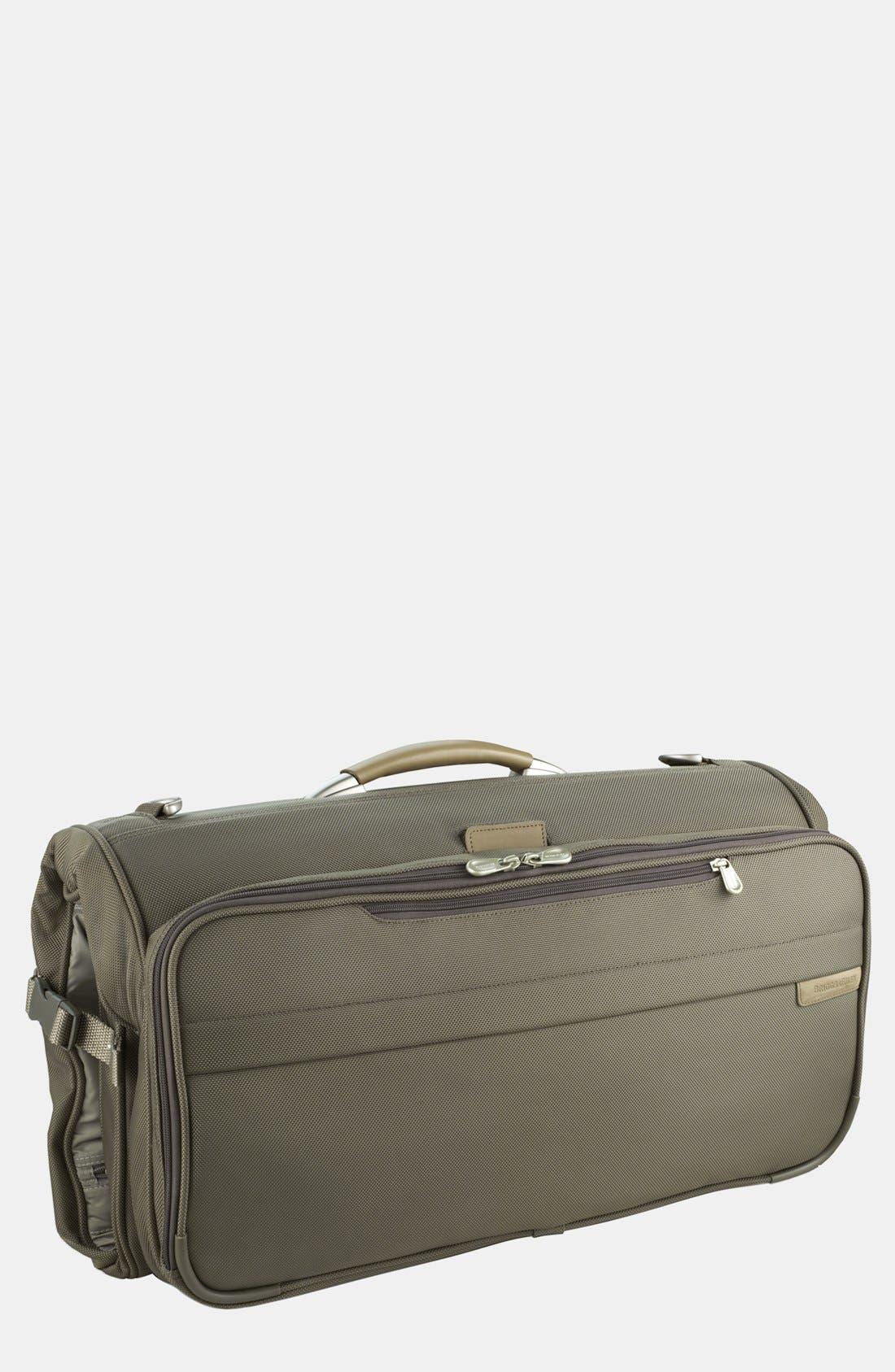 Baseline - Compact Garment Bag, Main, color, OLIVE