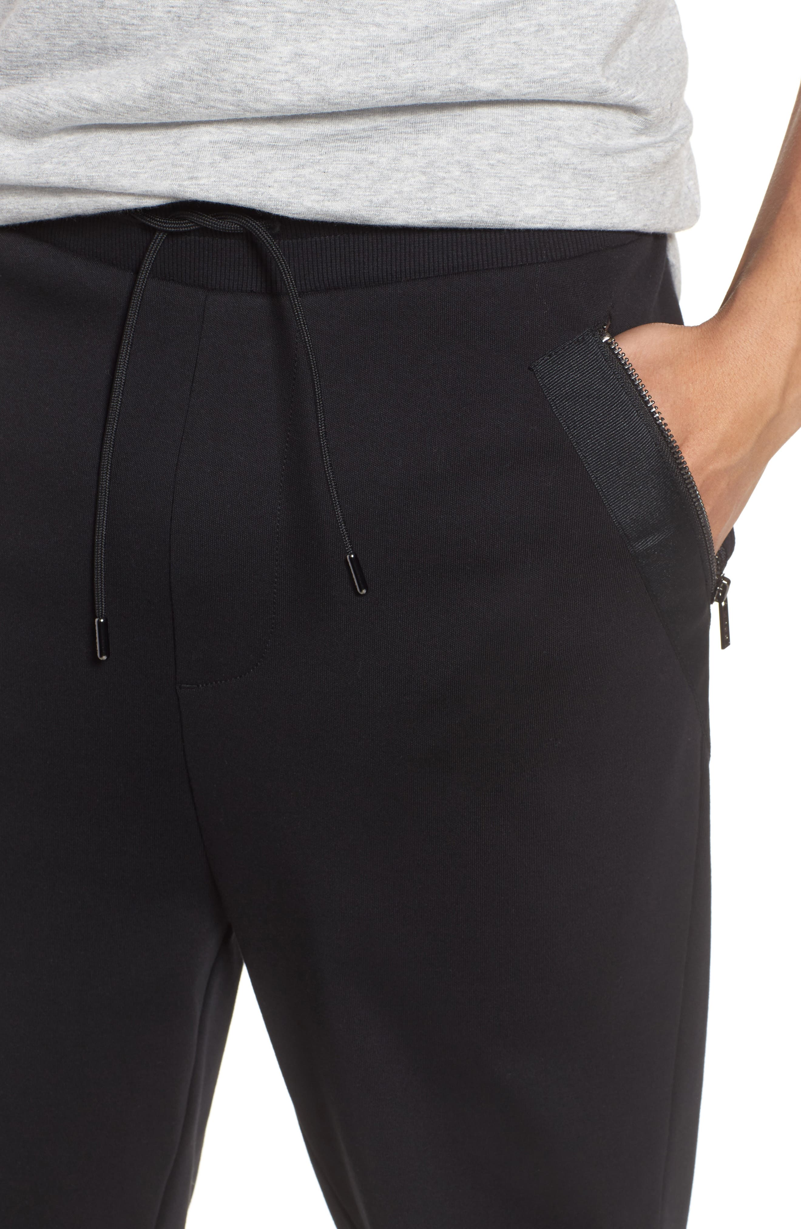Daring Relaxed Fit Sweatpants,                             Alternate thumbnail 4, color,                             001