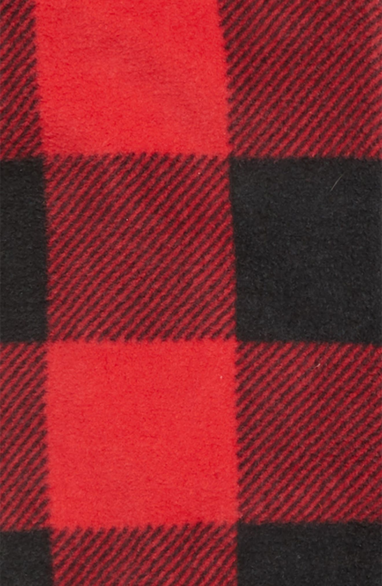 Plaid One-Piece Pajamas,                             Alternate thumbnail 2, color,                             RED BLOOM LARGE BUFFALO CHECK