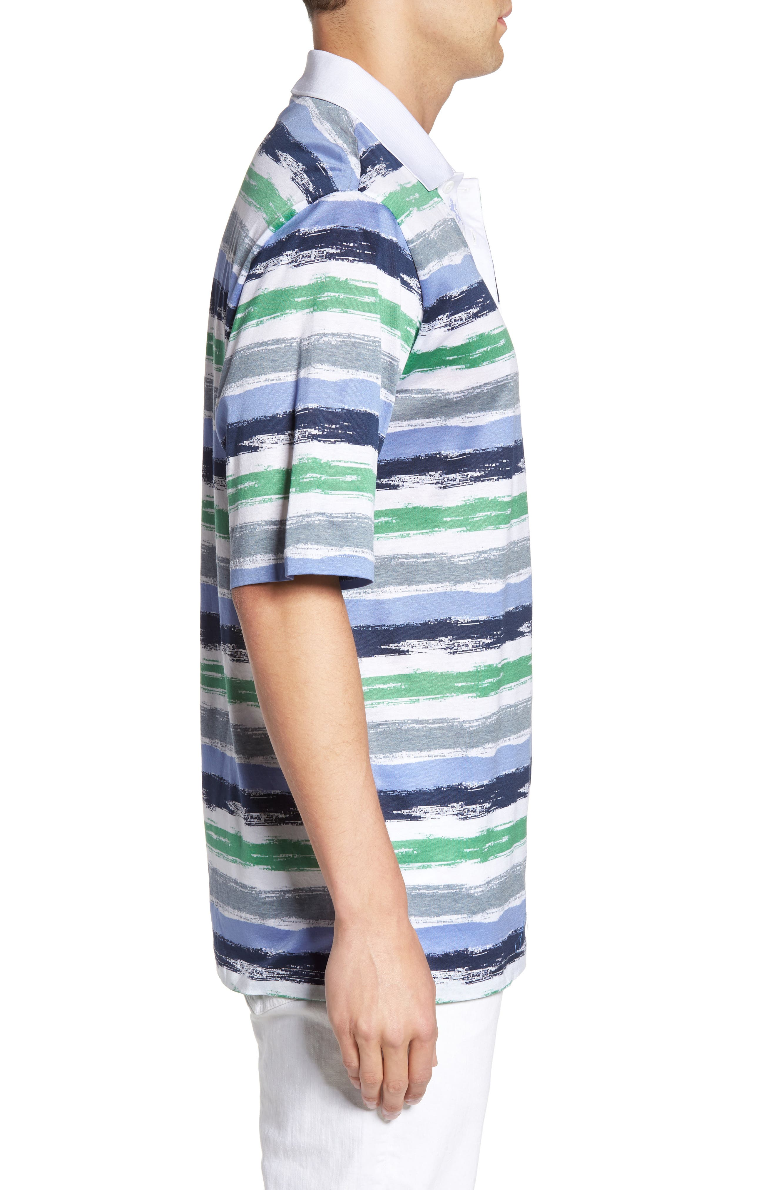 Brushstroke Stripe Polo,                             Alternate thumbnail 3, color,                             329