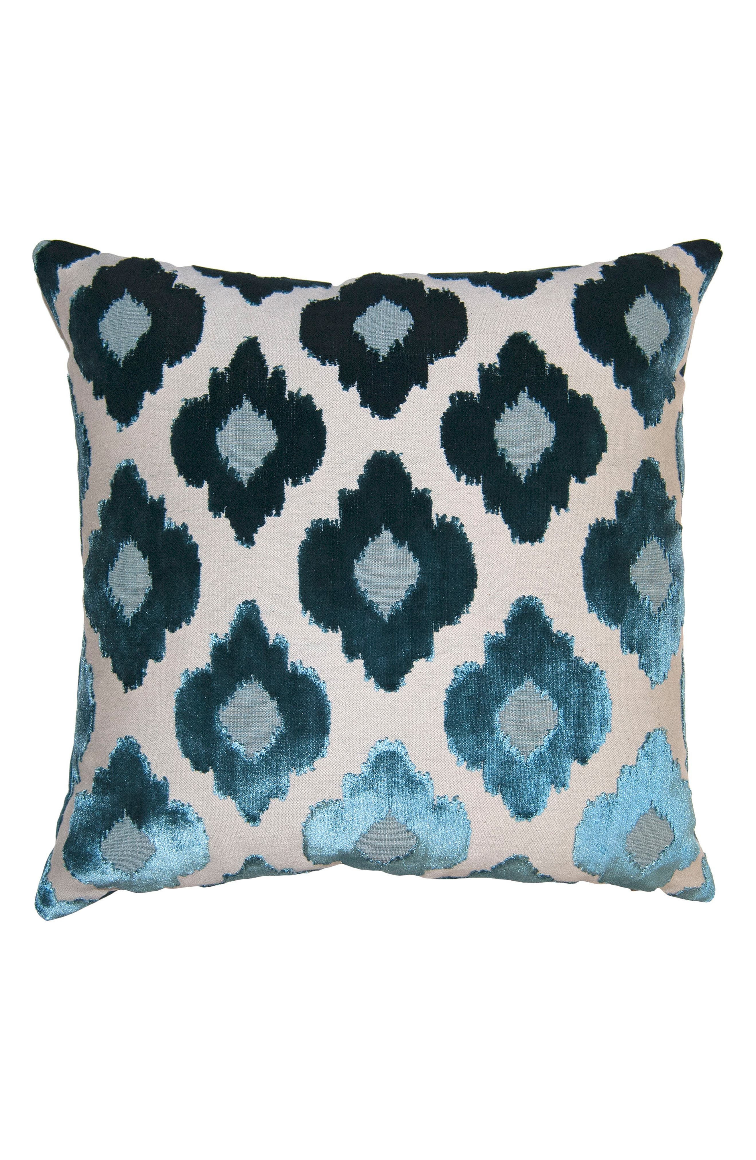 SQUARE FEATHERS,                             Sky Flowers Accent Pillow,                             Main thumbnail 1, color,                             BLUE
