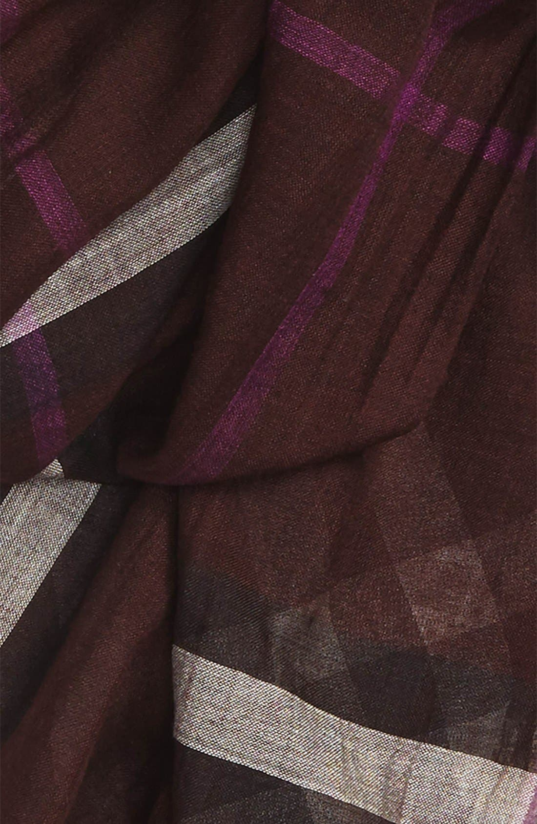 Giant Check Print Wool & Silk Scarf,                             Alternate thumbnail 139, color,