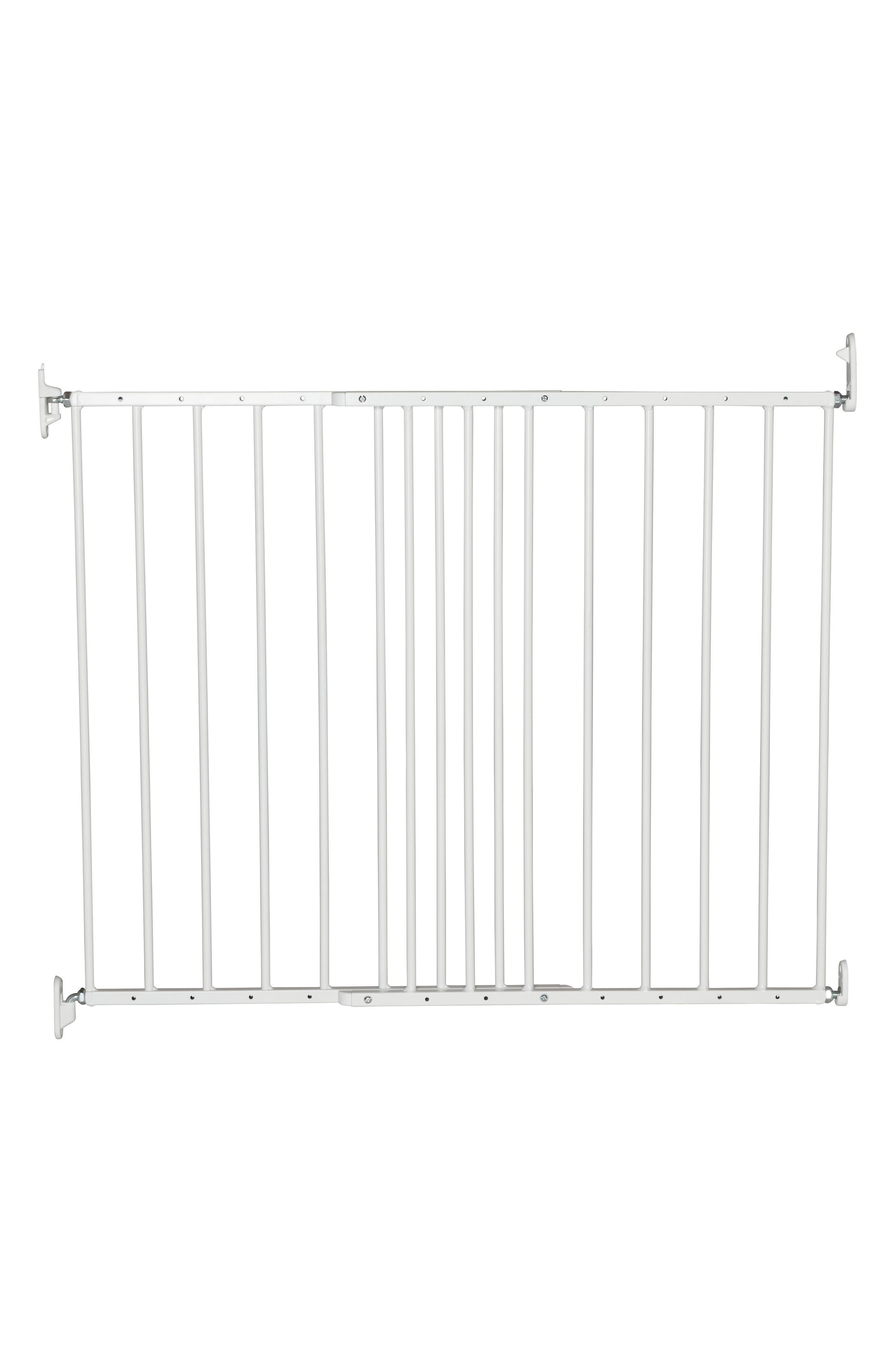 MultiDan Extending Hard Mount Metal Safety Gate,                             Main thumbnail 1, color,                             WHITE