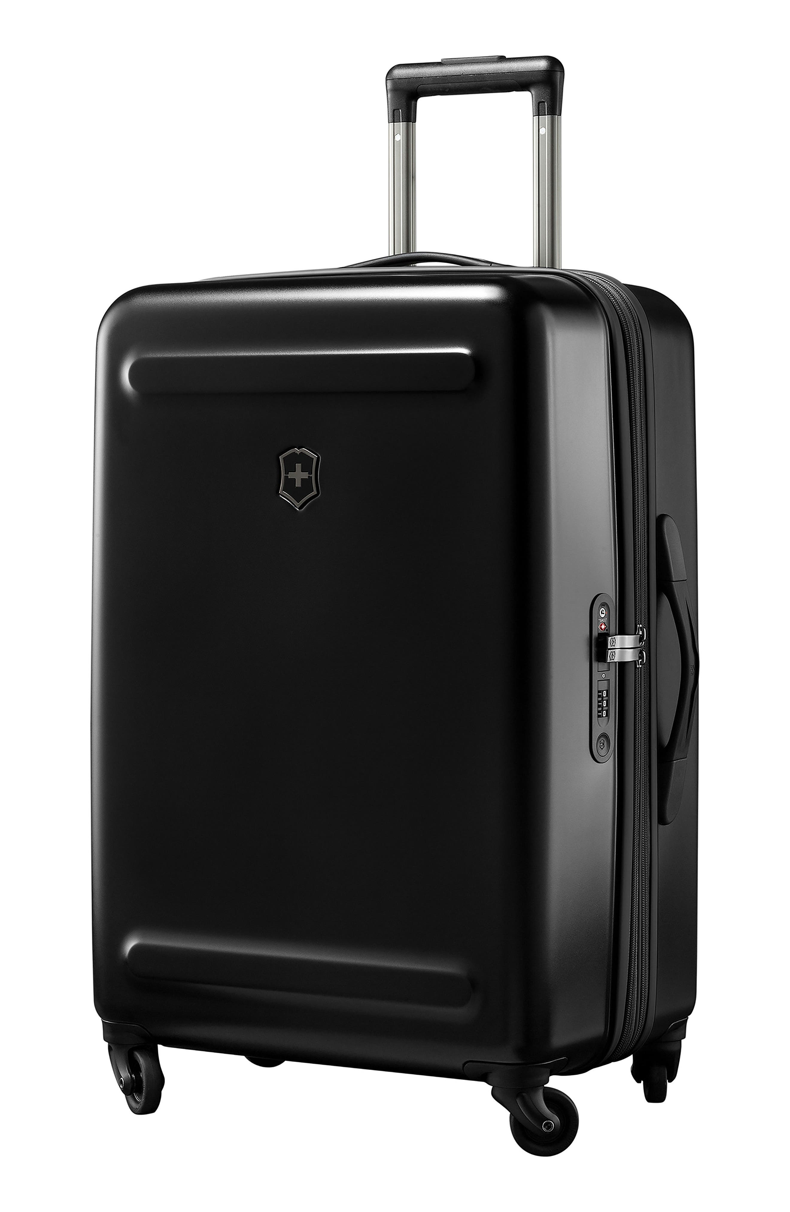 Etherius 27-Inch Wheeled Suitcase,                             Main thumbnail 1, color,                             BLACK