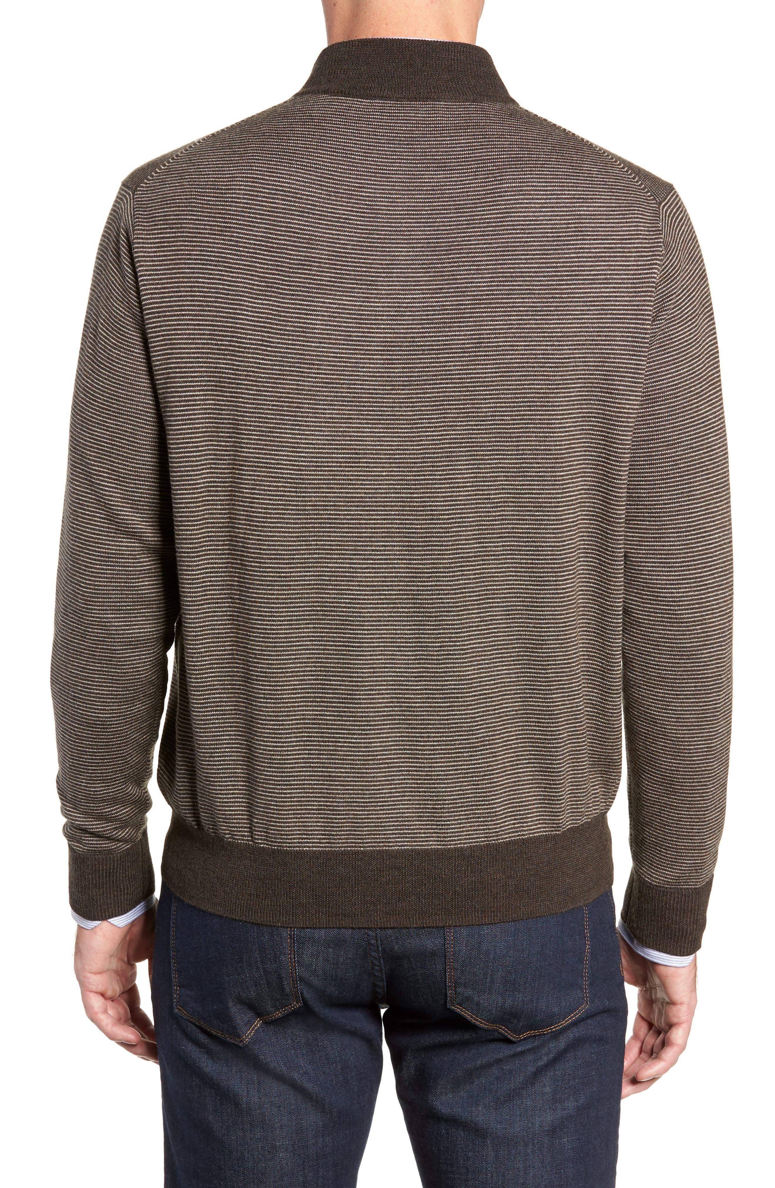 Needle Stripe Quarter Zip Sweater,                             Alternate thumbnail 2, color,                             200