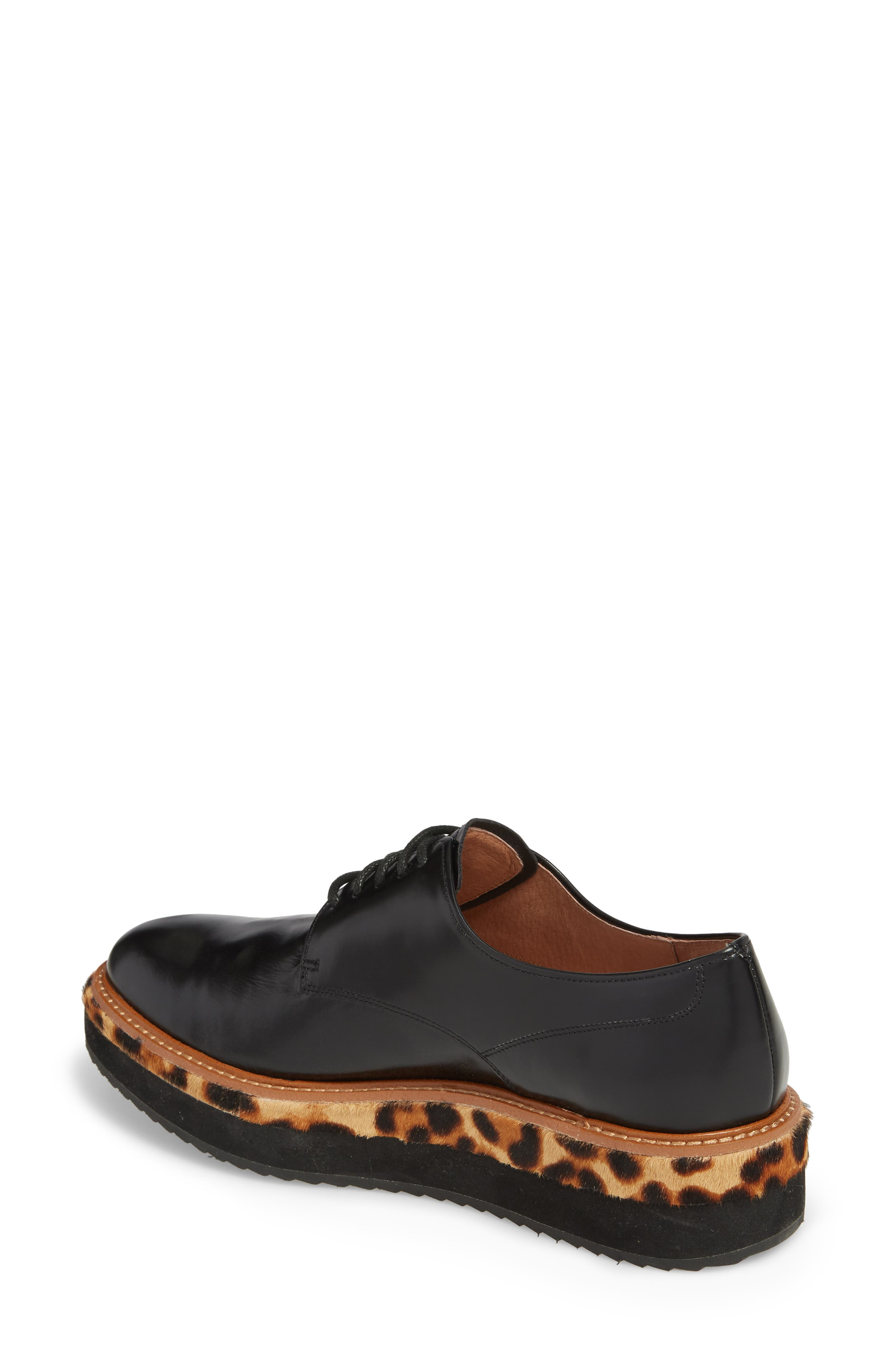 Maddox Oxford,                             Alternate thumbnail 2, color,                             BLACK BOX LEATHER/ LEOPARD