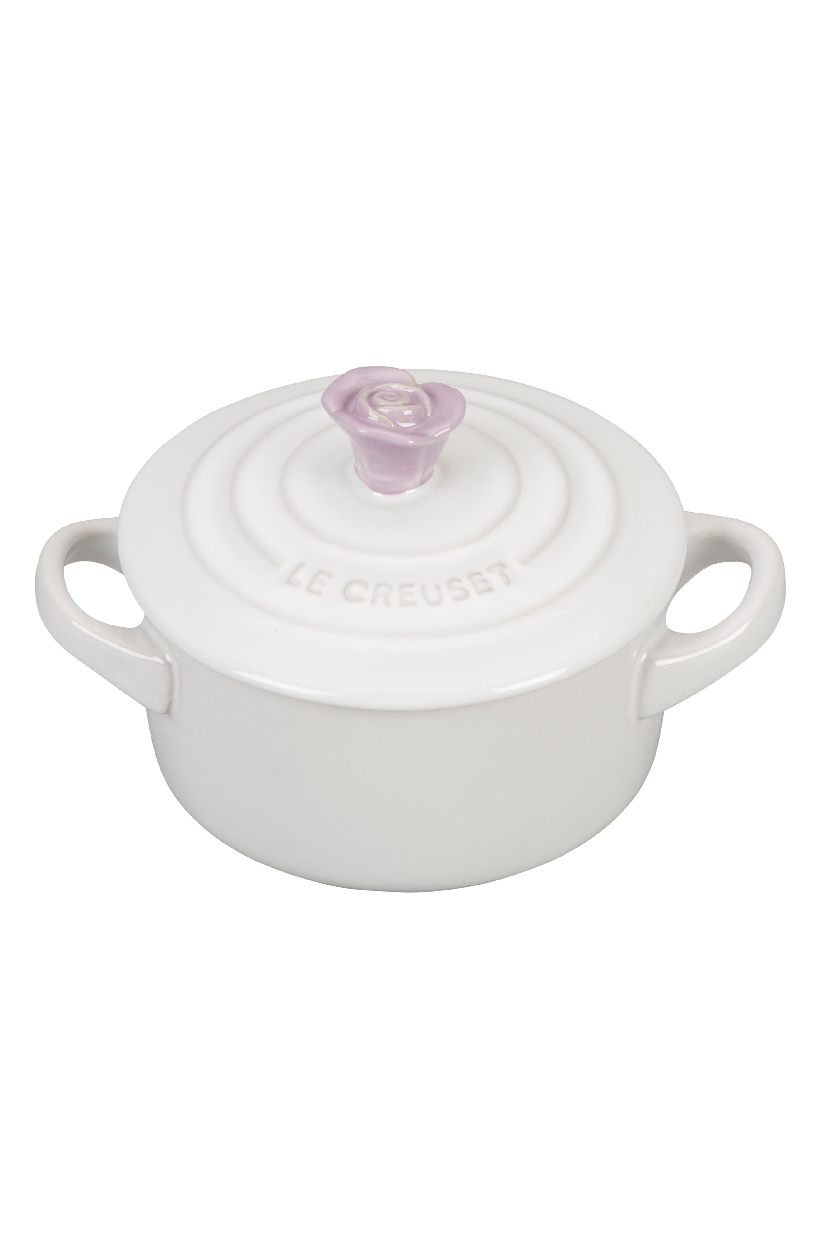 Flower Knob Mini Round Cocotte,                             Main thumbnail 1, color,                             PROVENCE