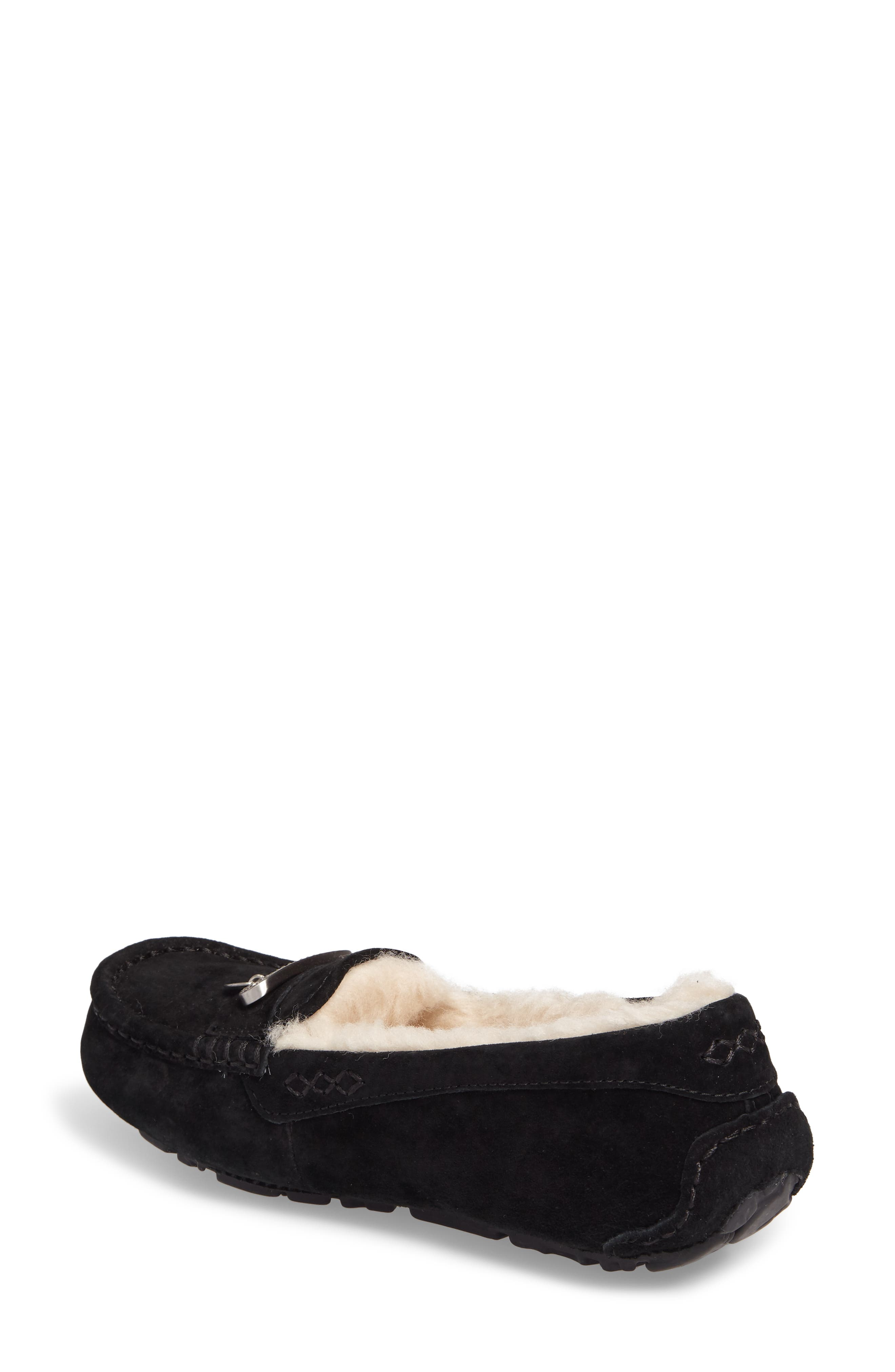 Florencia Water Resistant Silkee<sup>™</sup> Suede Slipper,                             Alternate thumbnail 2, color,                             001
