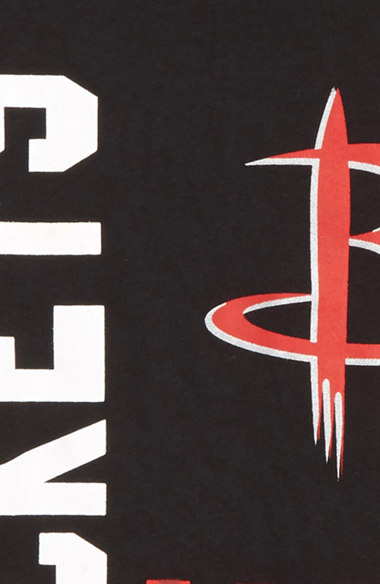 NBA Logo Houston Rockets - Shattered T-Shirt,                             Alternate thumbnail 2, color,                             BLACK