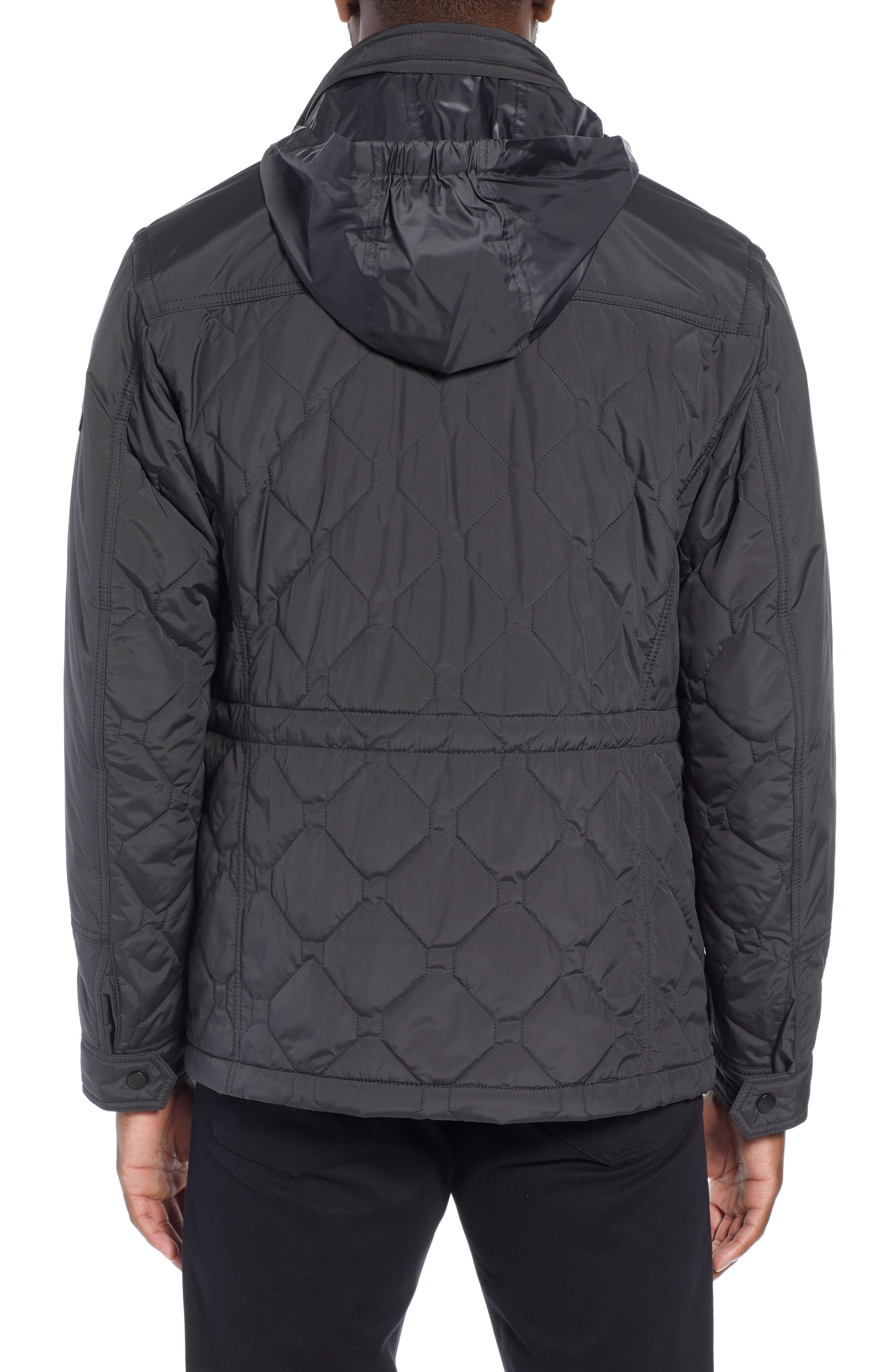 Cloud Quilted Field Jacket with Stowaway Hood,                             Alternate thumbnail 2, color,                             GREY