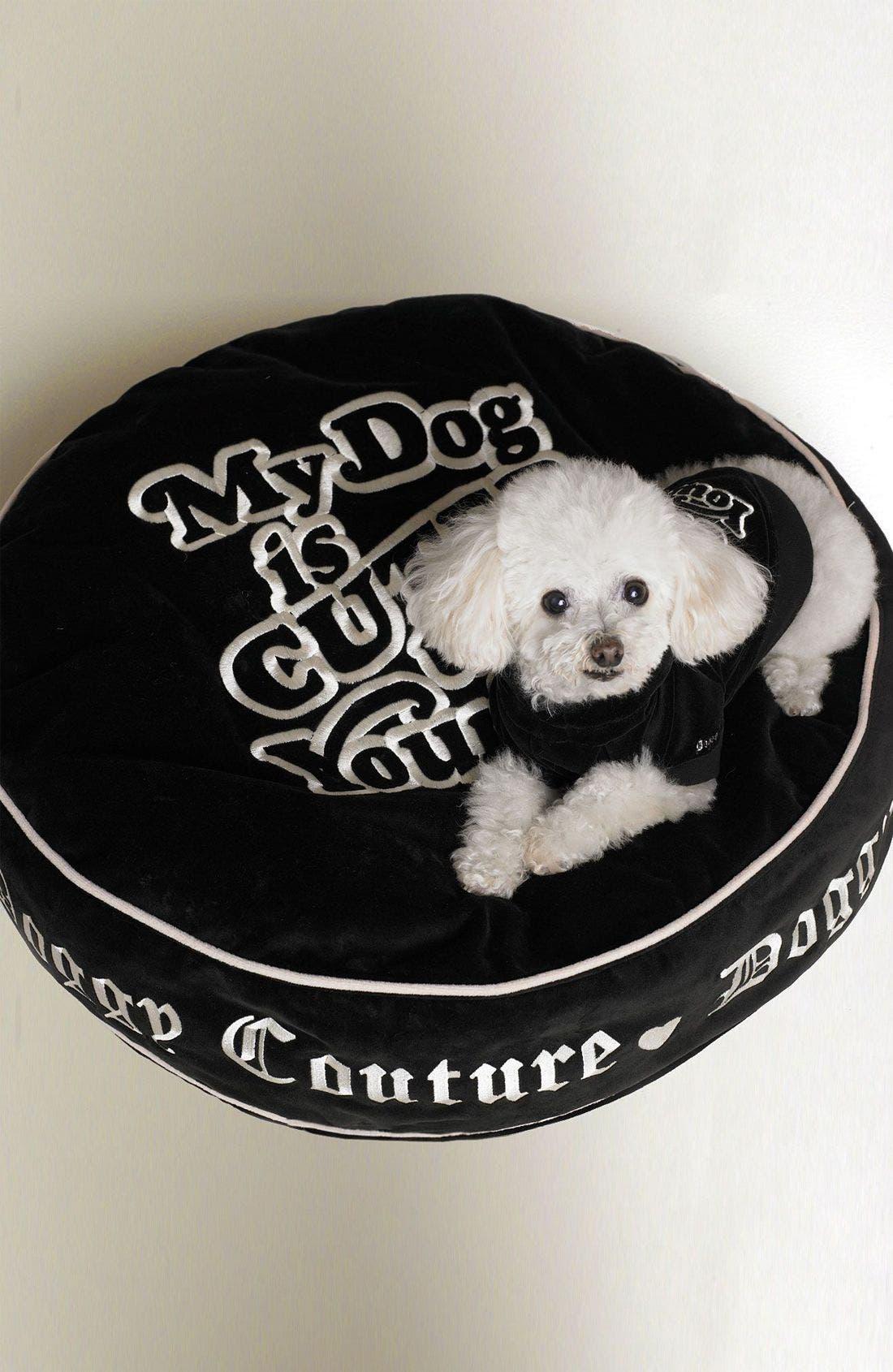 JUICY COUTURE Pet Bed, Main, color, BLK