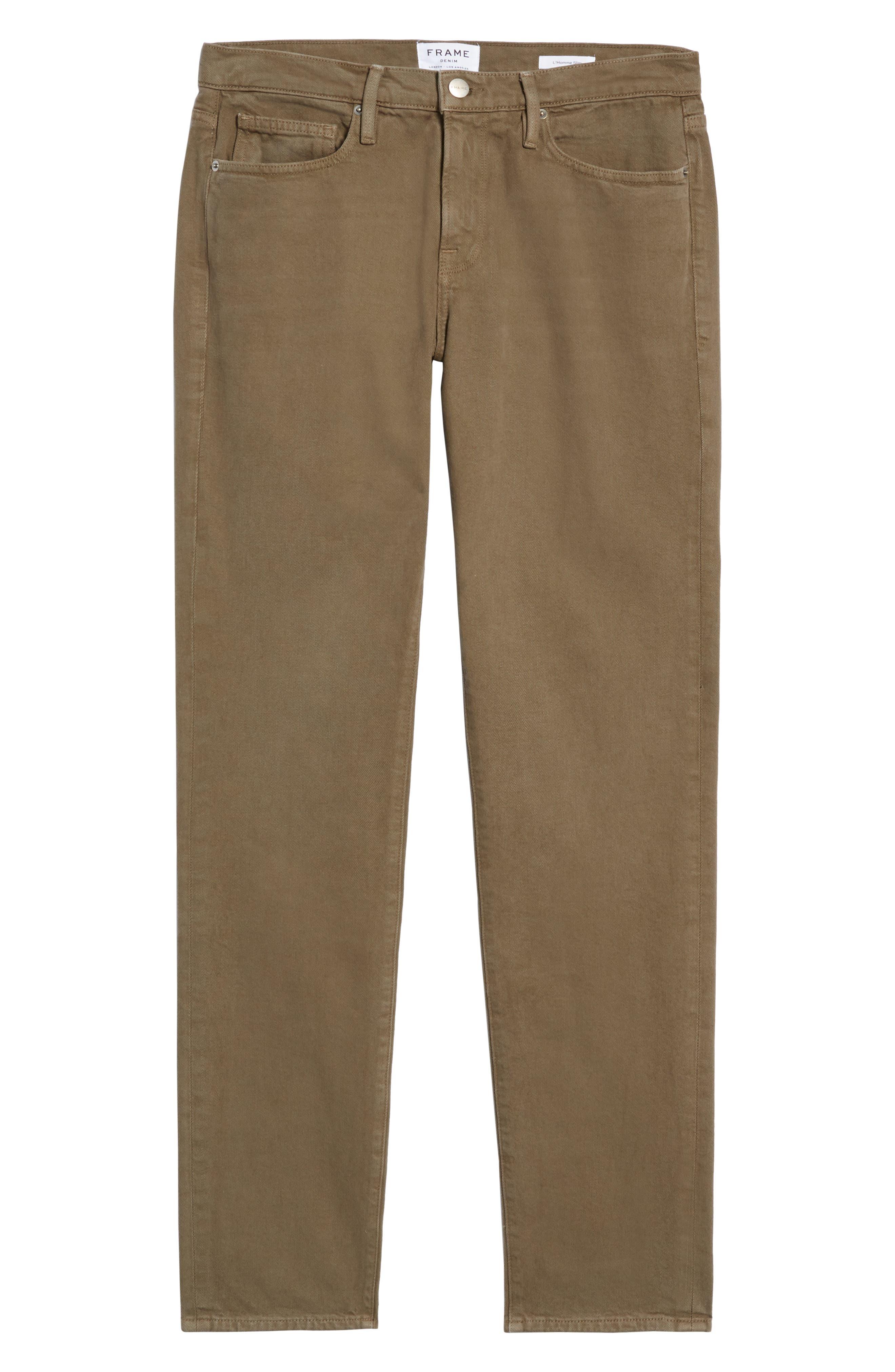 L'Homme Slim Fit Jeans,                             Alternate thumbnail 6, color,                             CORIANDER