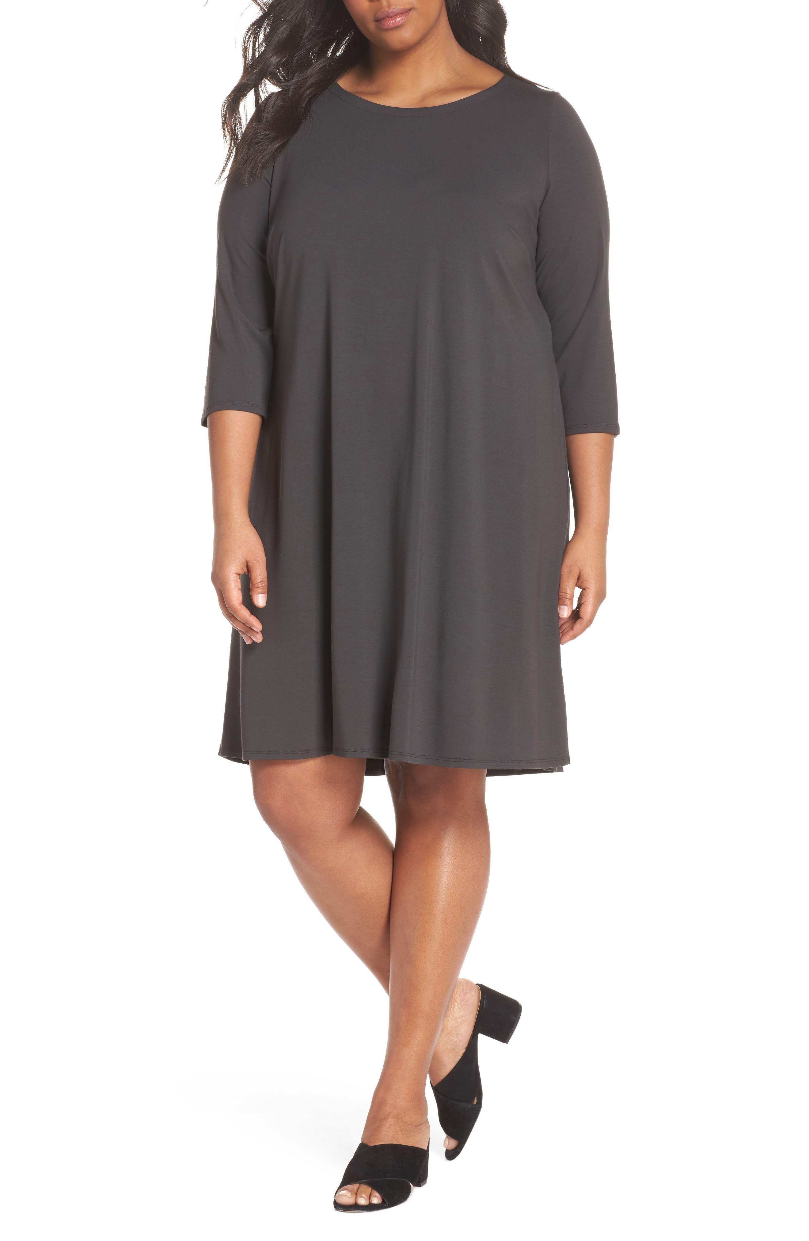 Jewel Neck Tie Back Dress,                             Main thumbnail 2, color,