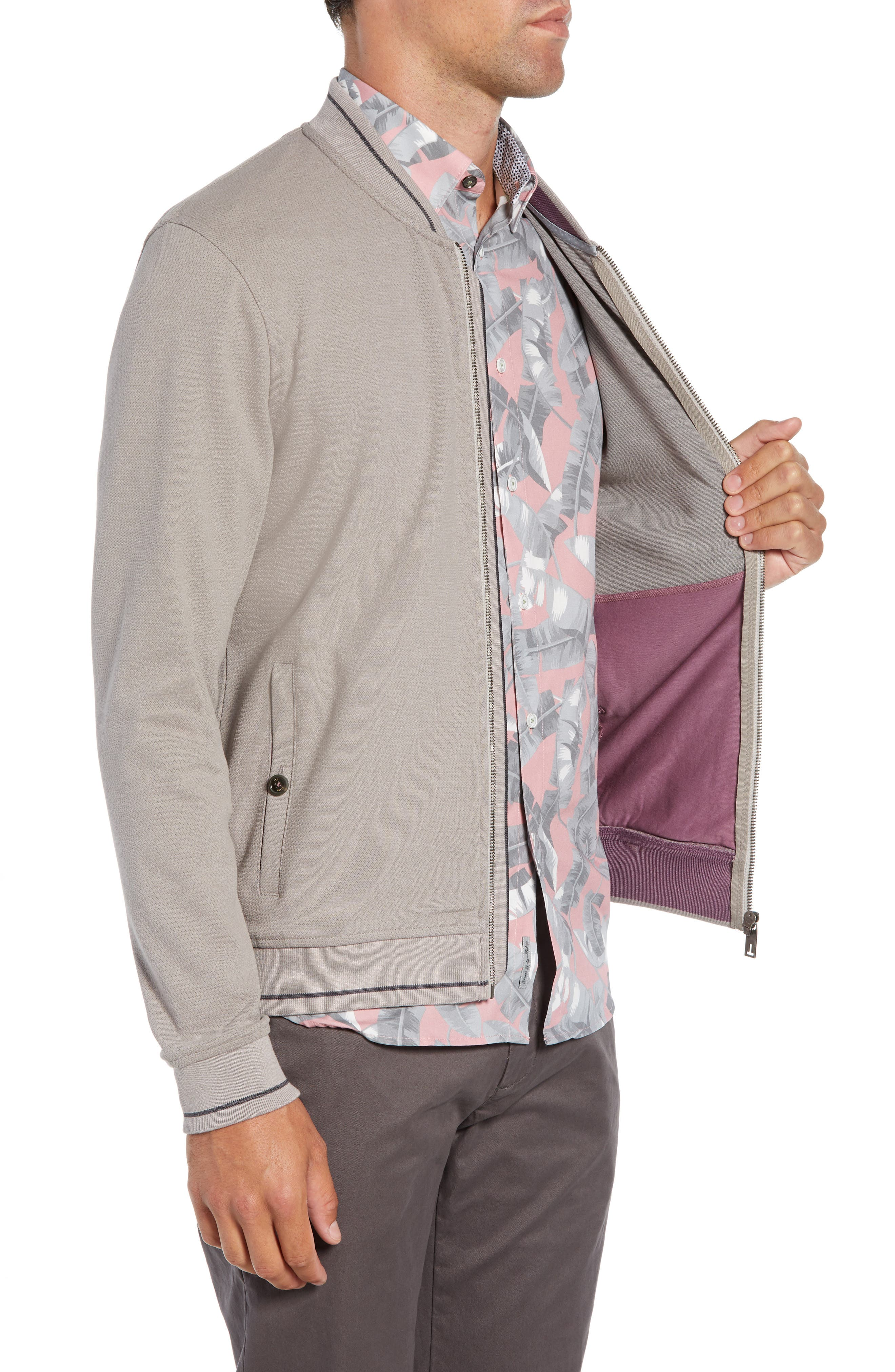 Chicpea Jersey Bomber Jacket,                             Alternate thumbnail 3, color,                             250