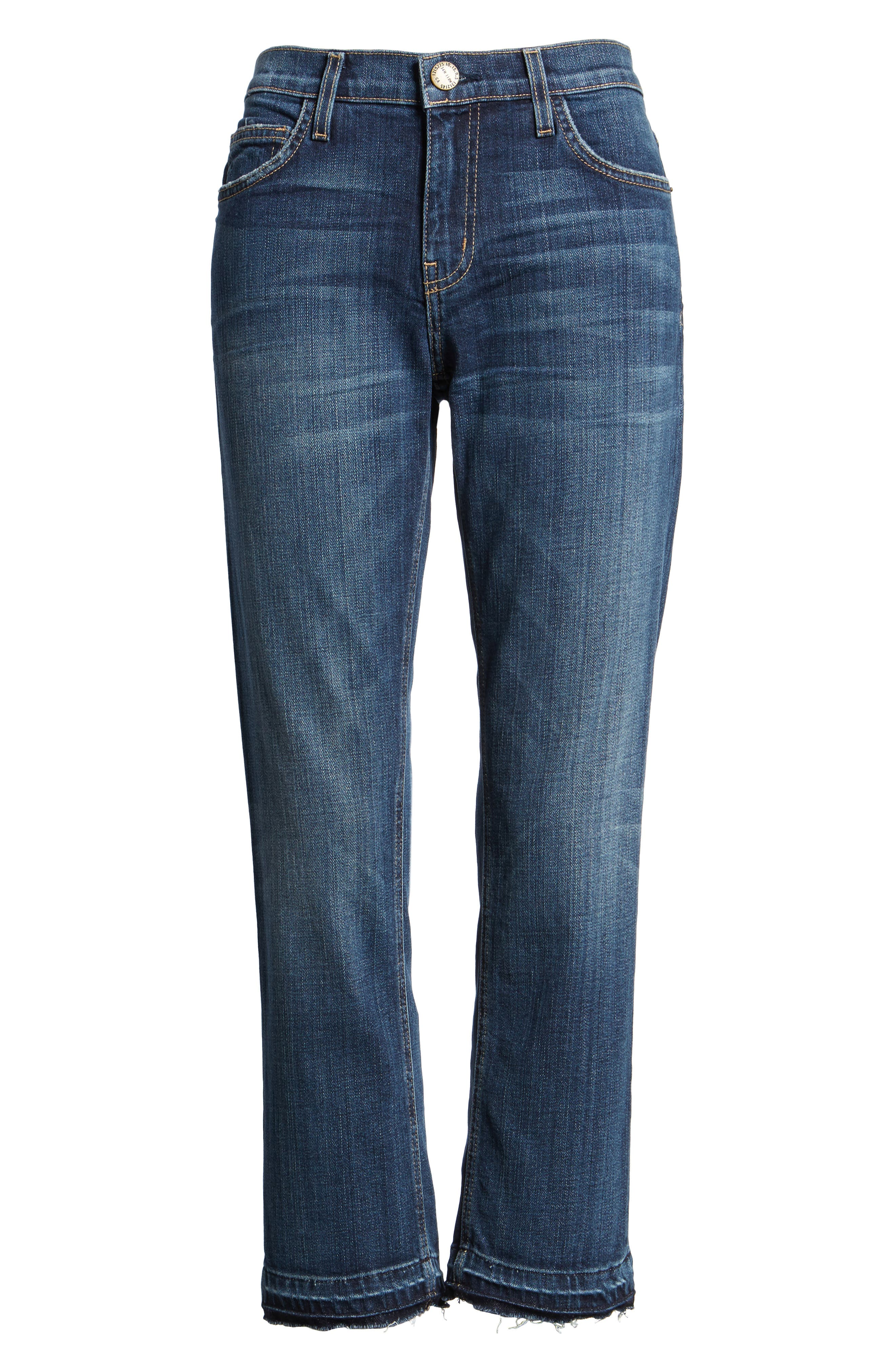 The Cropped Straight Released Hem Jeans,                             Main thumbnail 1, color,                             464