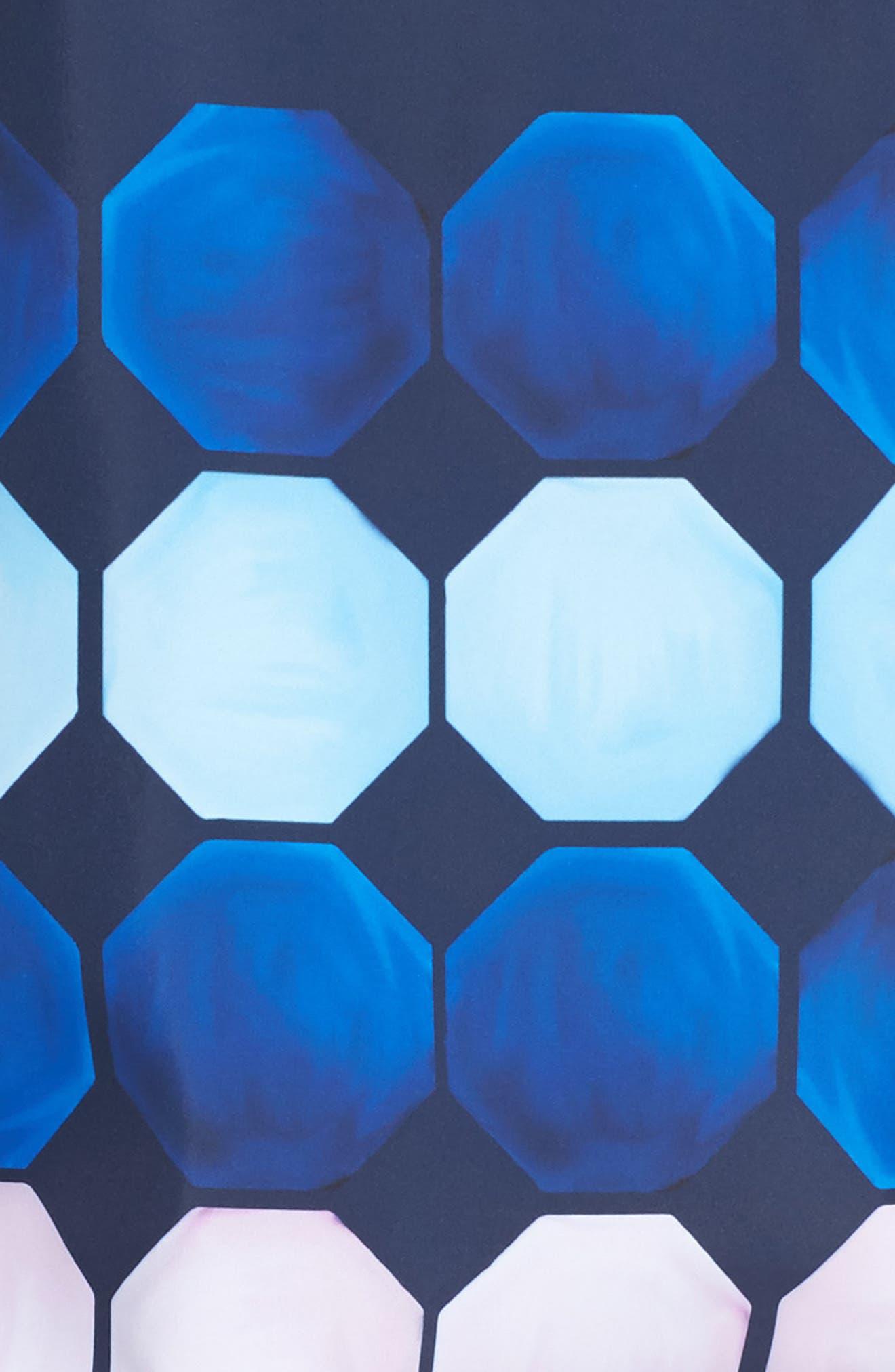 Marina Mosaic Hooded Jacket,                             Alternate thumbnail 5, color,                             410