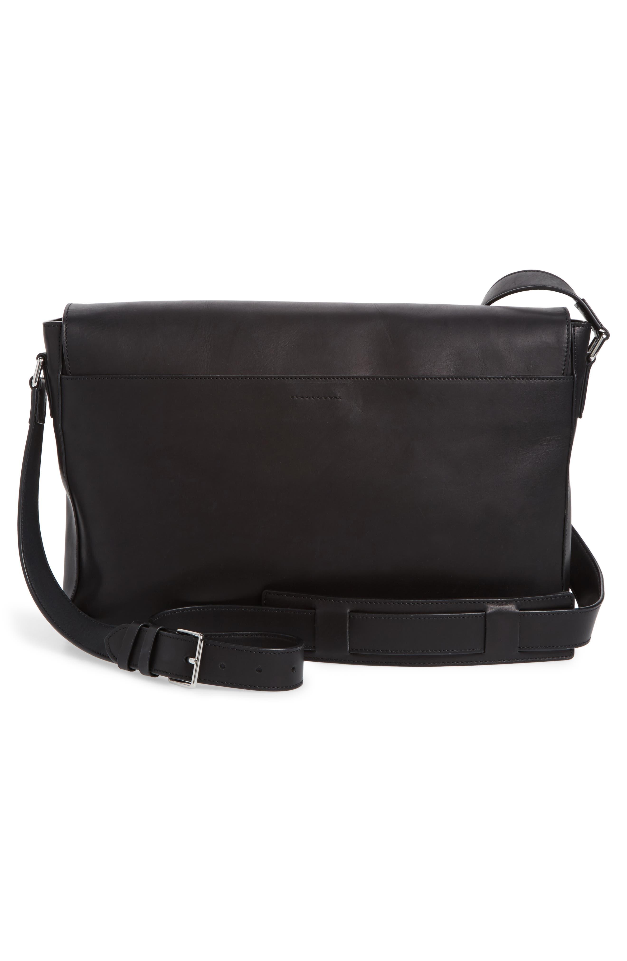 Brayton Leather Messenger Bag,                             Alternate thumbnail 3, color,