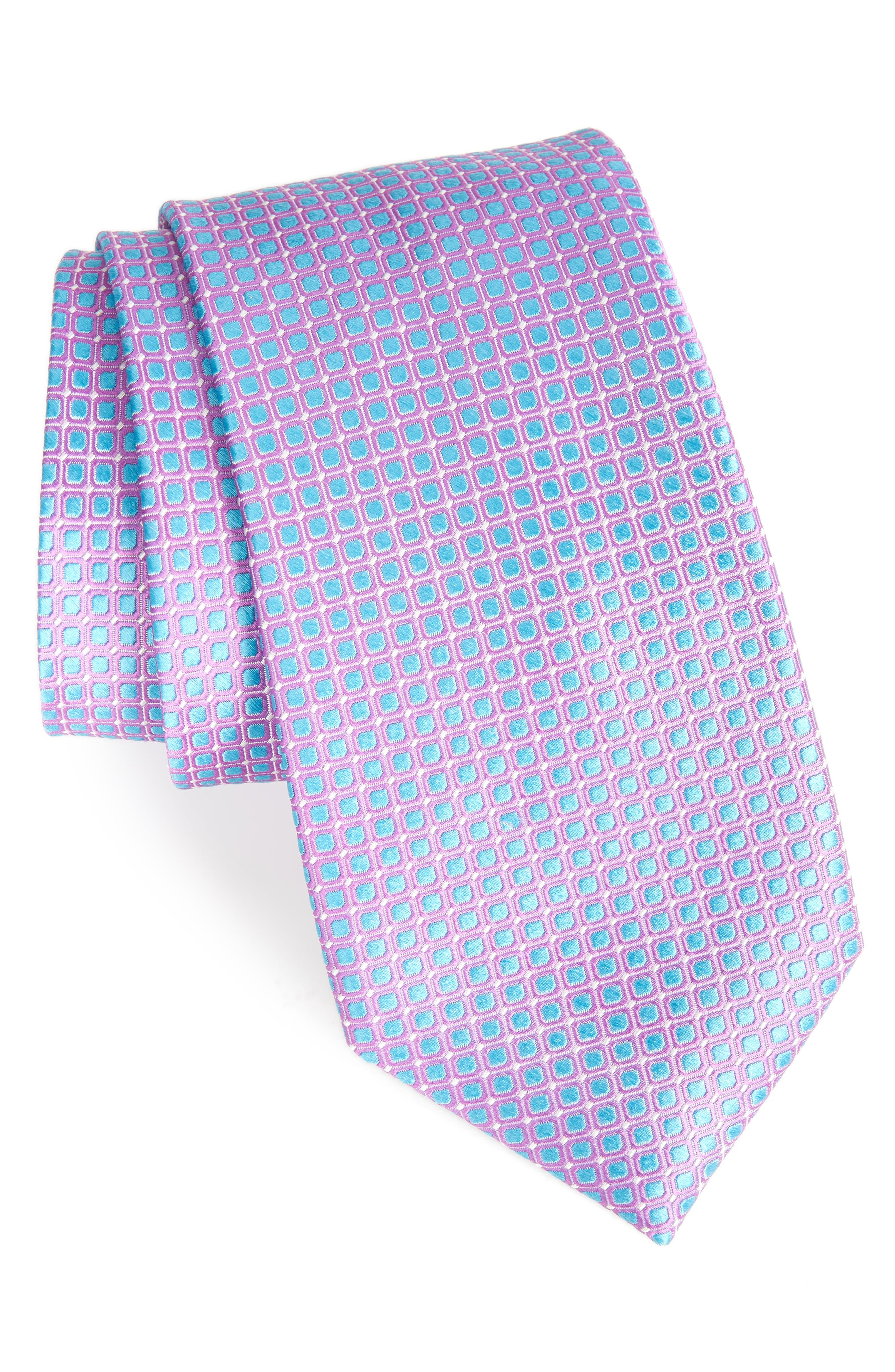 Laguna Check Silk Tie,                             Main thumbnail 3, color,