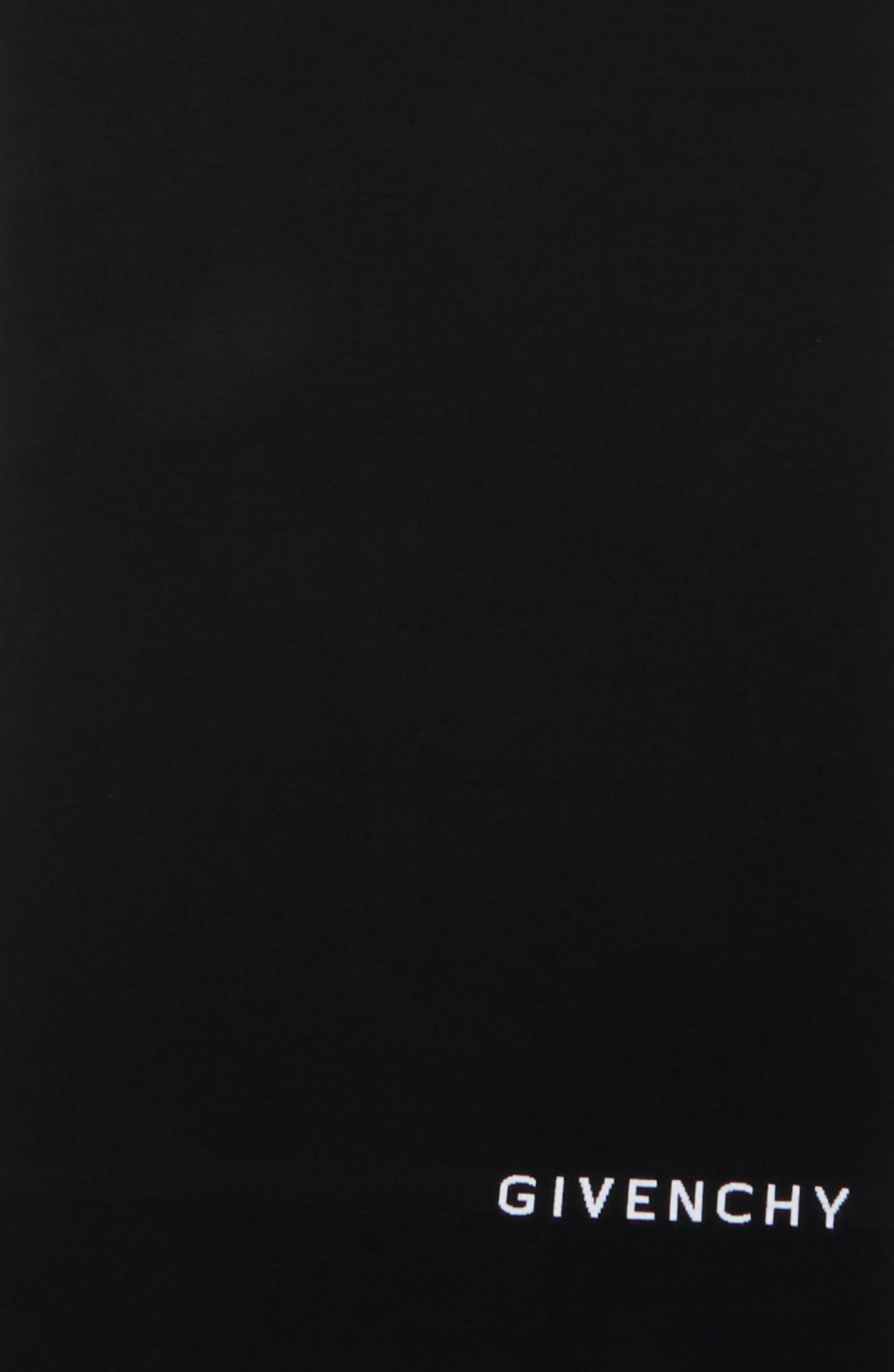 Knit Logo Wool Scarf,                             Alternate thumbnail 4, color,                             BLACK/ WHITE