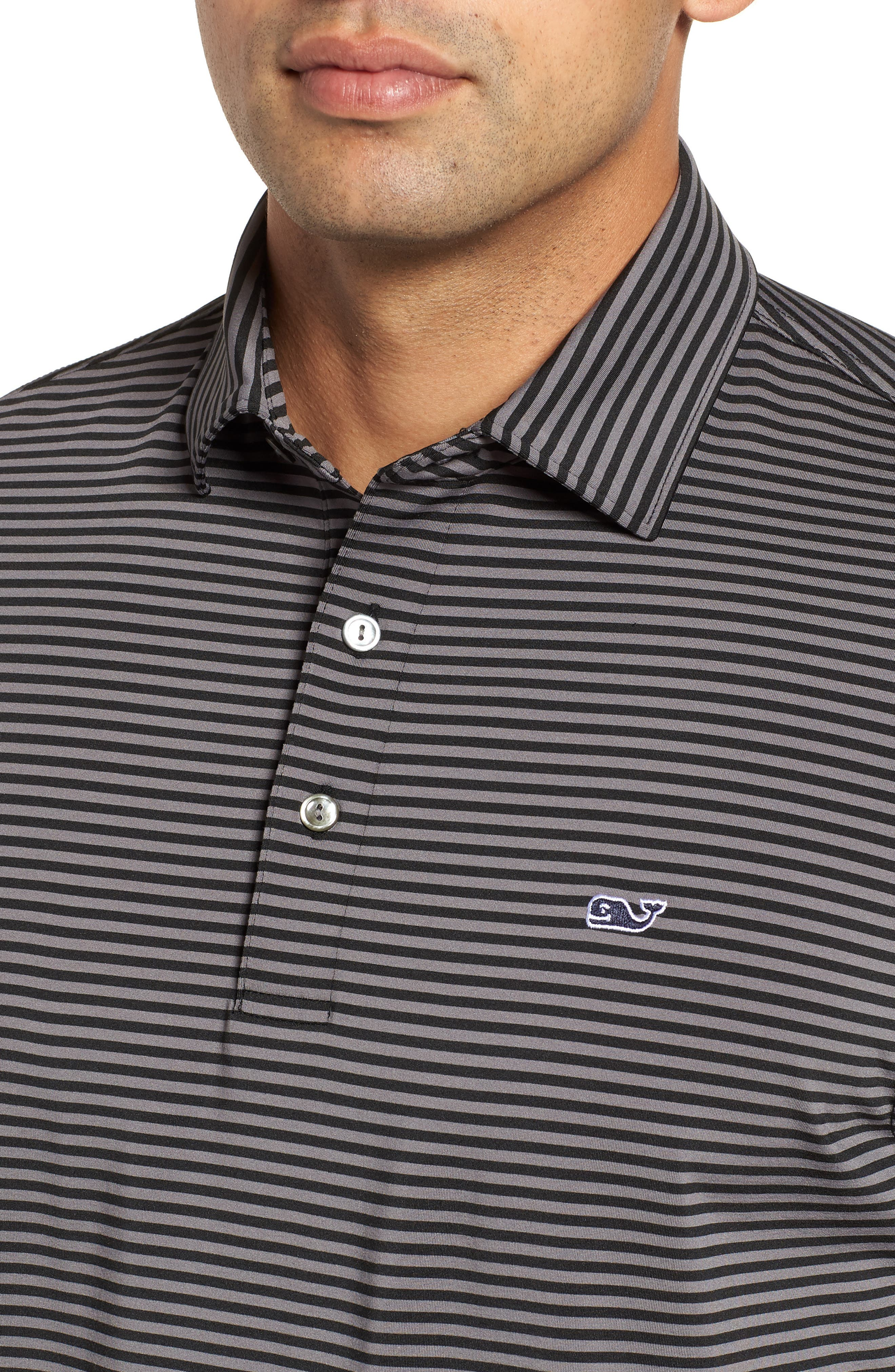 Kennedy Stripe Golf Polo,                             Alternate thumbnail 4, color,                             002