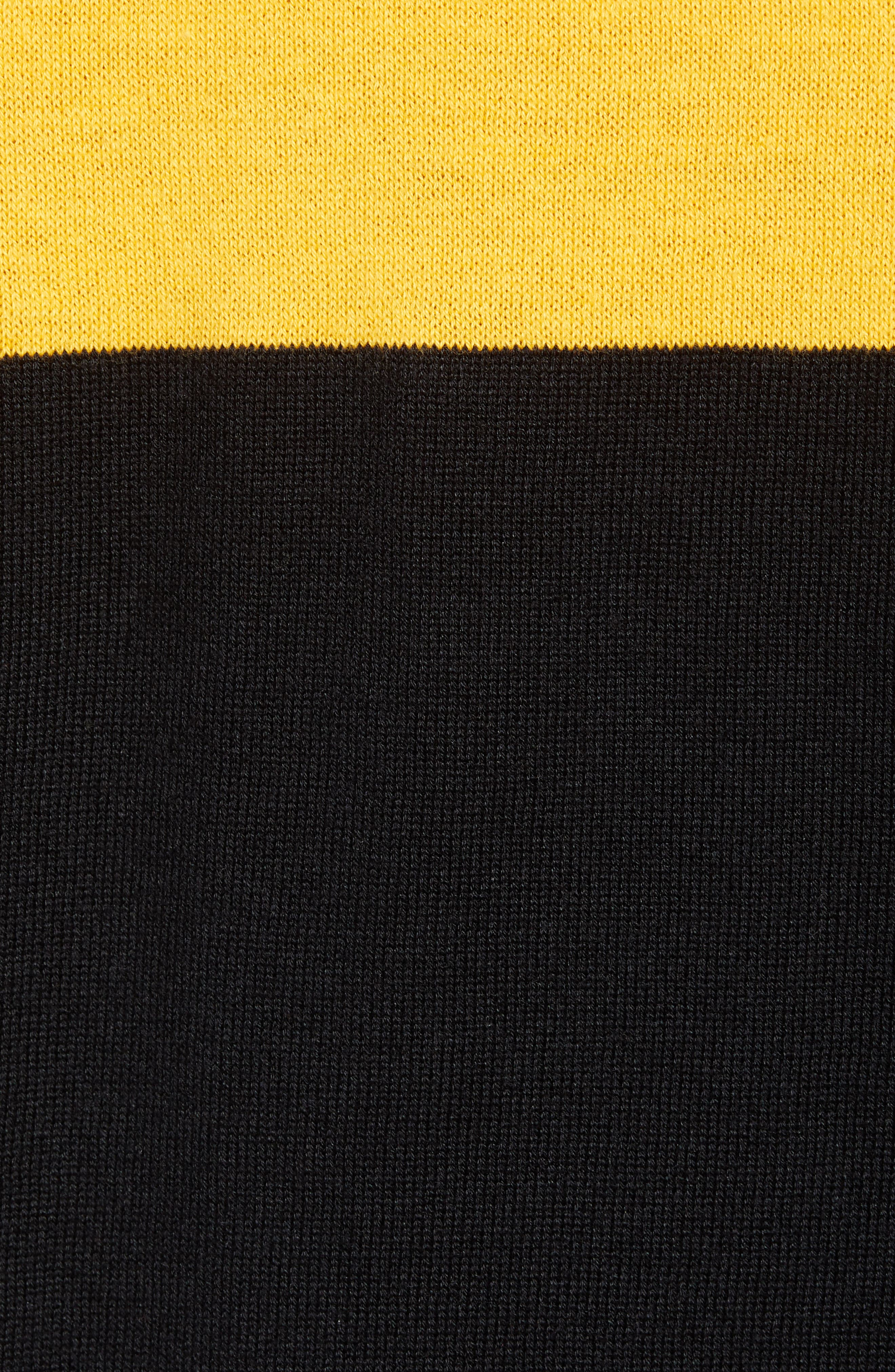 Rugby Stripe Sweater,                             Alternate thumbnail 5, color,                             BLACK YELLOW RUGBY STRIPE
