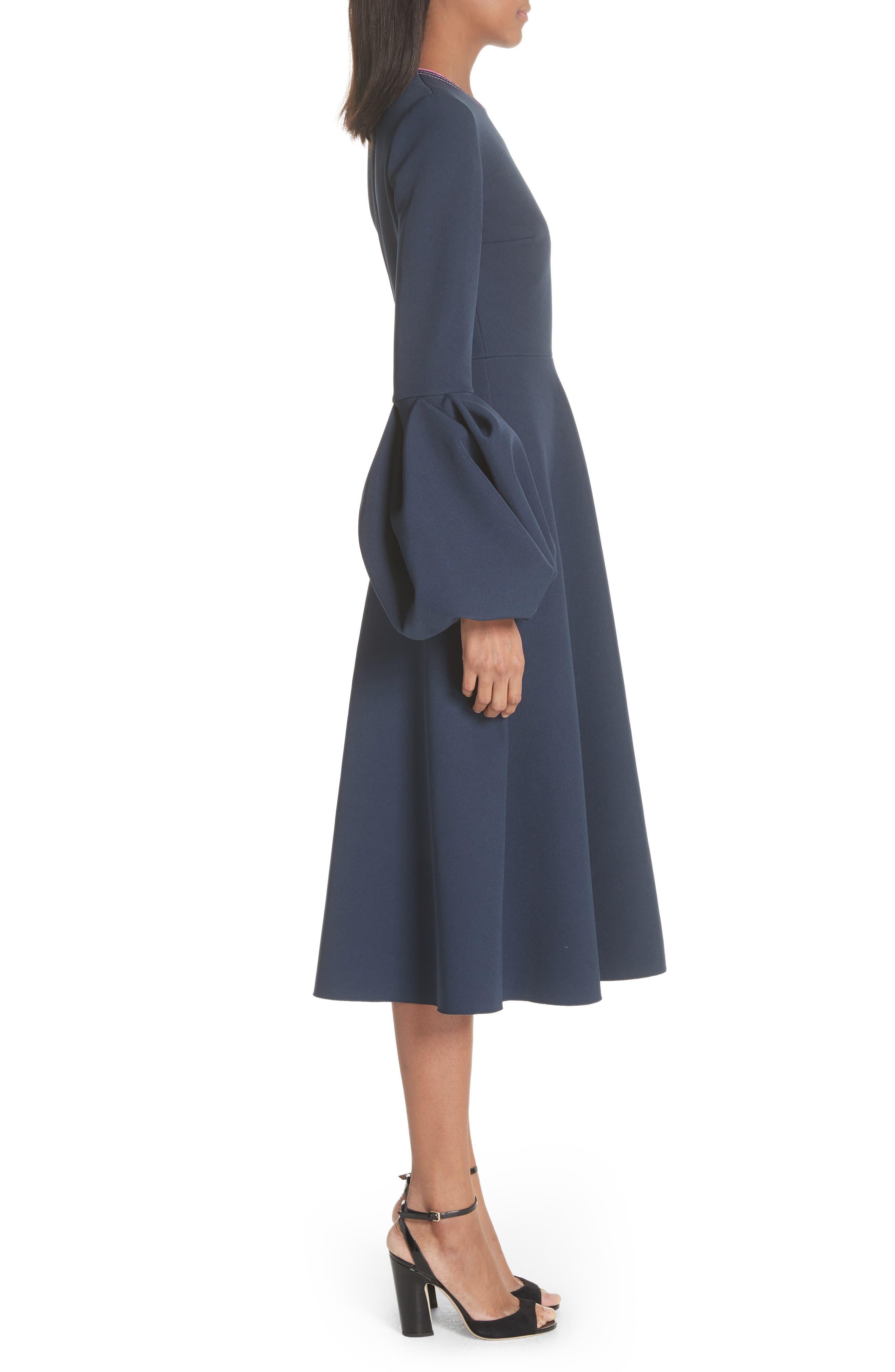 Aylin Bell Sleeve Dress,                             Alternate thumbnail 3, color,                             400