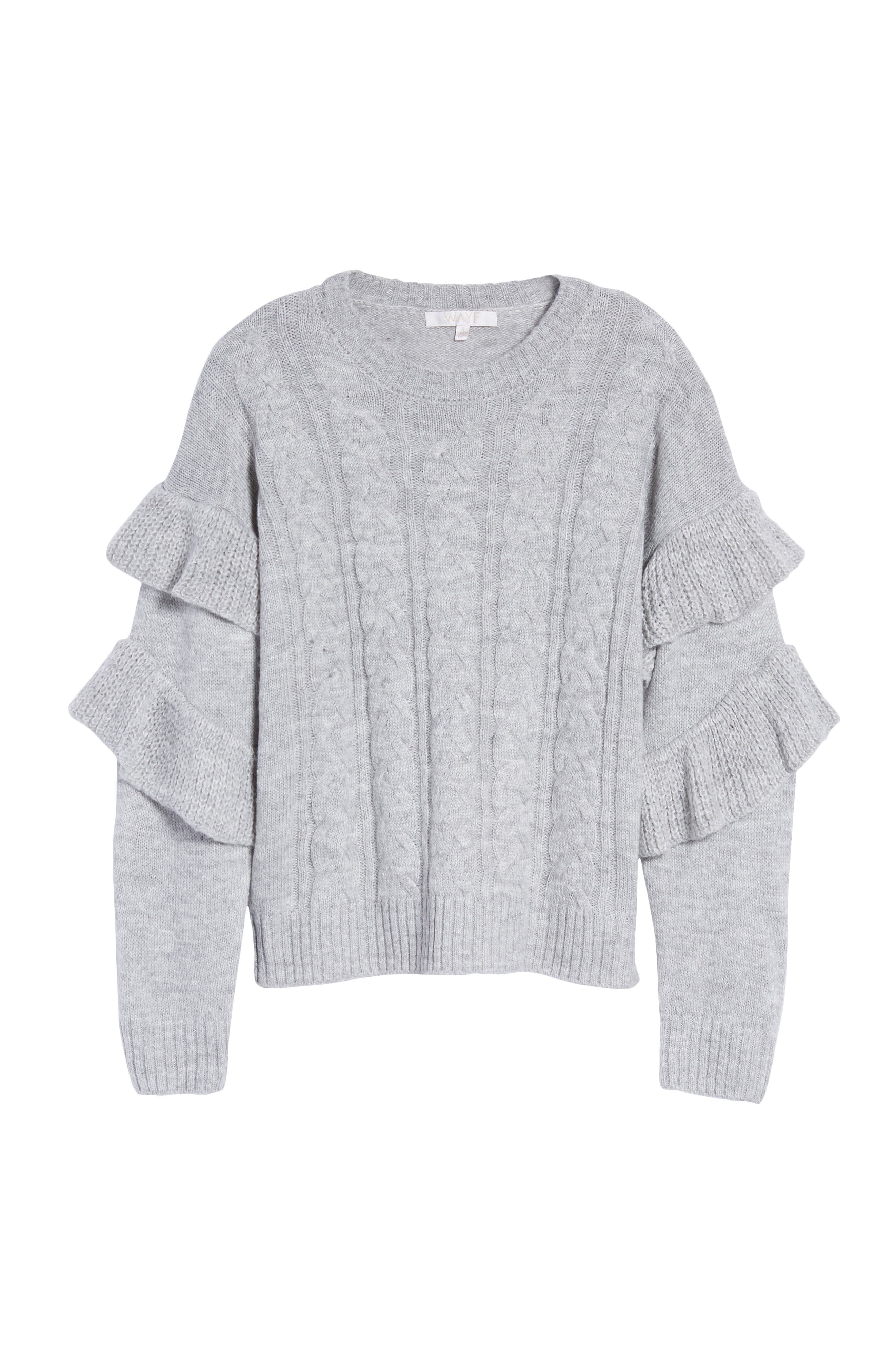 Sophie Ruffle Sleeve Sweater,                             Alternate thumbnail 6, color,