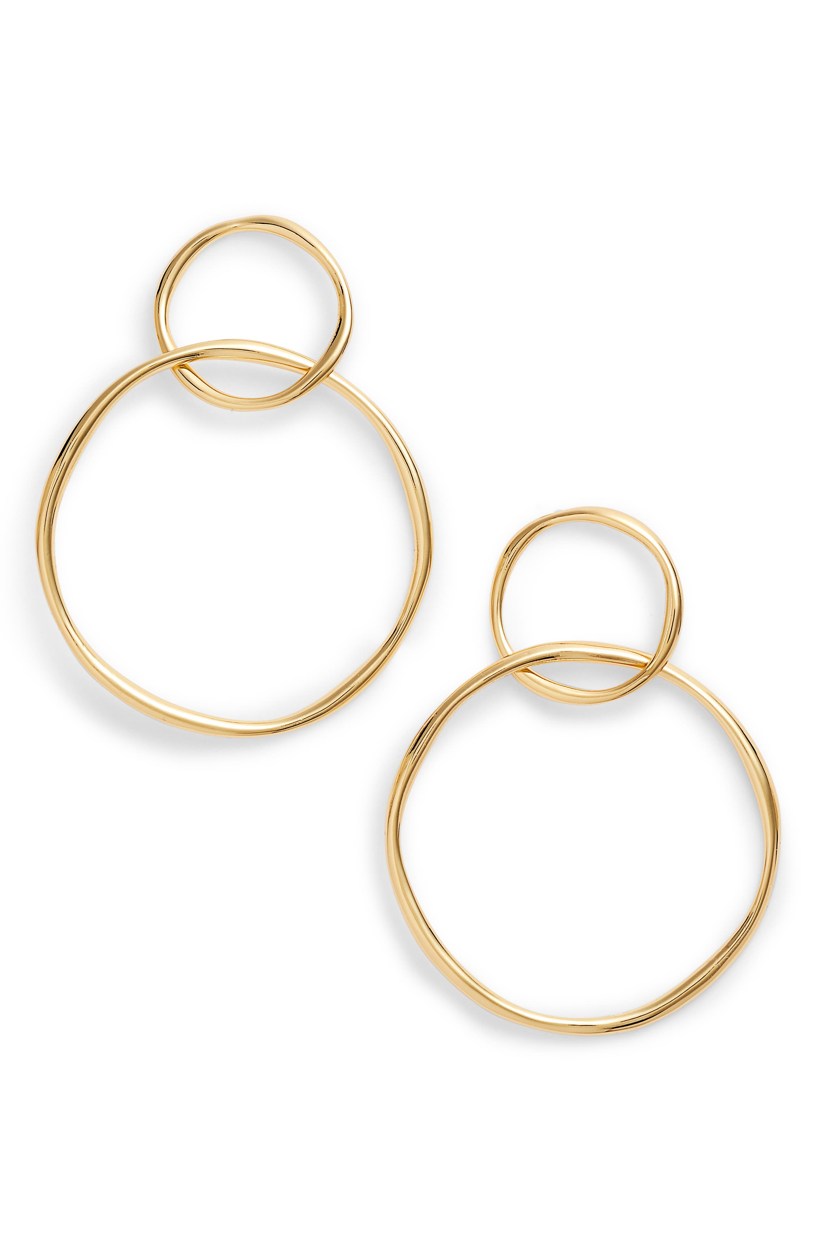 GORJANA,                             Kellen Linked Drop Earrings,                             Main thumbnail 1, color,                             710