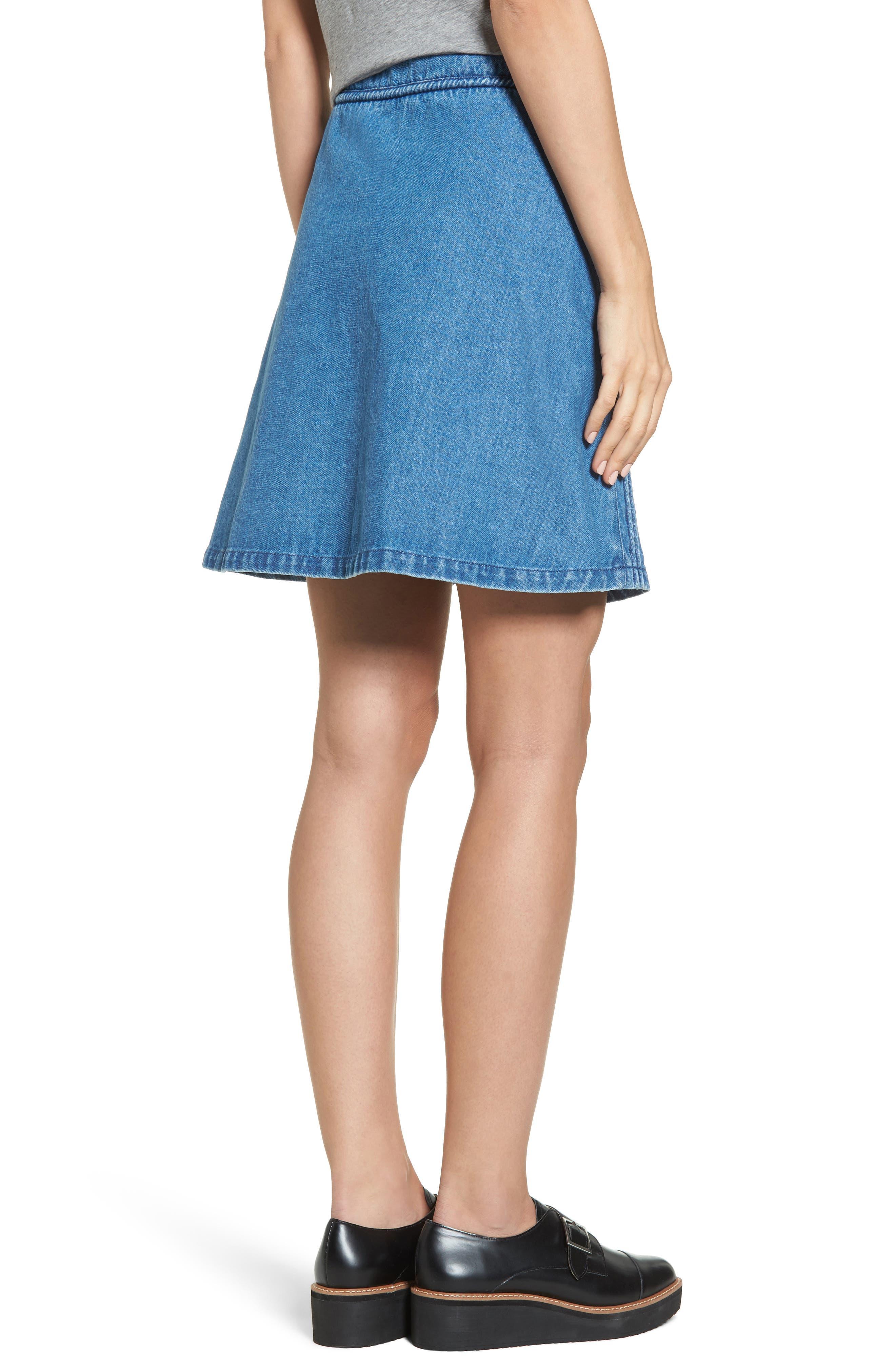 A-Line Skirt,                             Alternate thumbnail 2, color,