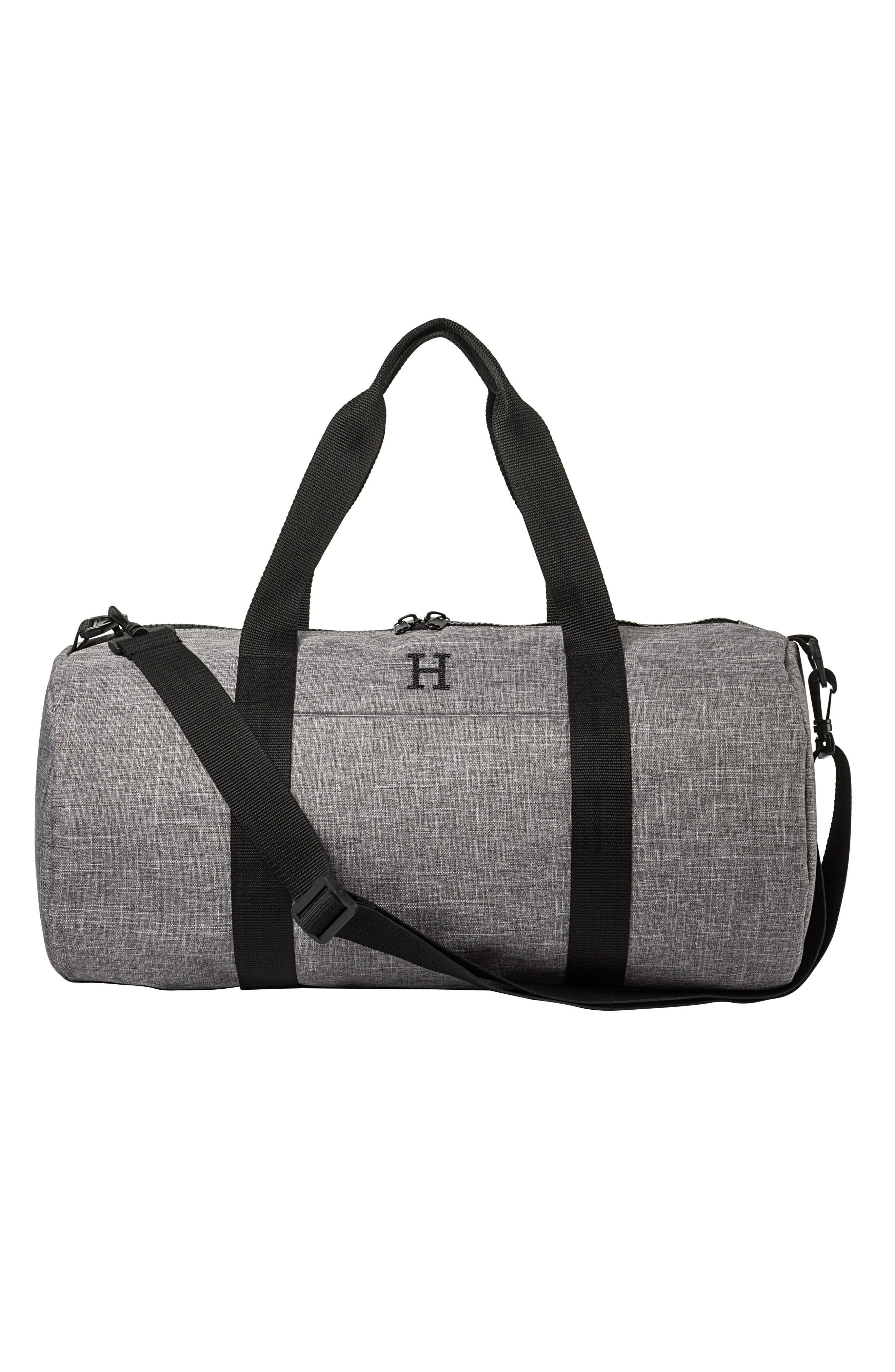 Monogram Duffel Bag,                             Alternate thumbnail 5, color,                             GREY