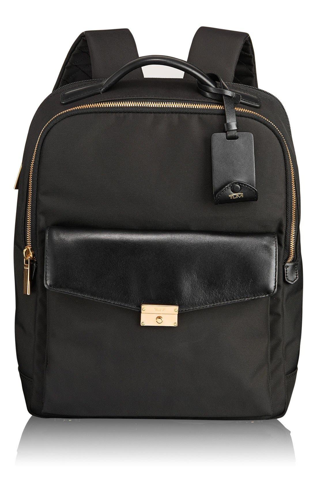 'Larkin Laurel' Nylon Commuter Backpack, Main, color, 001