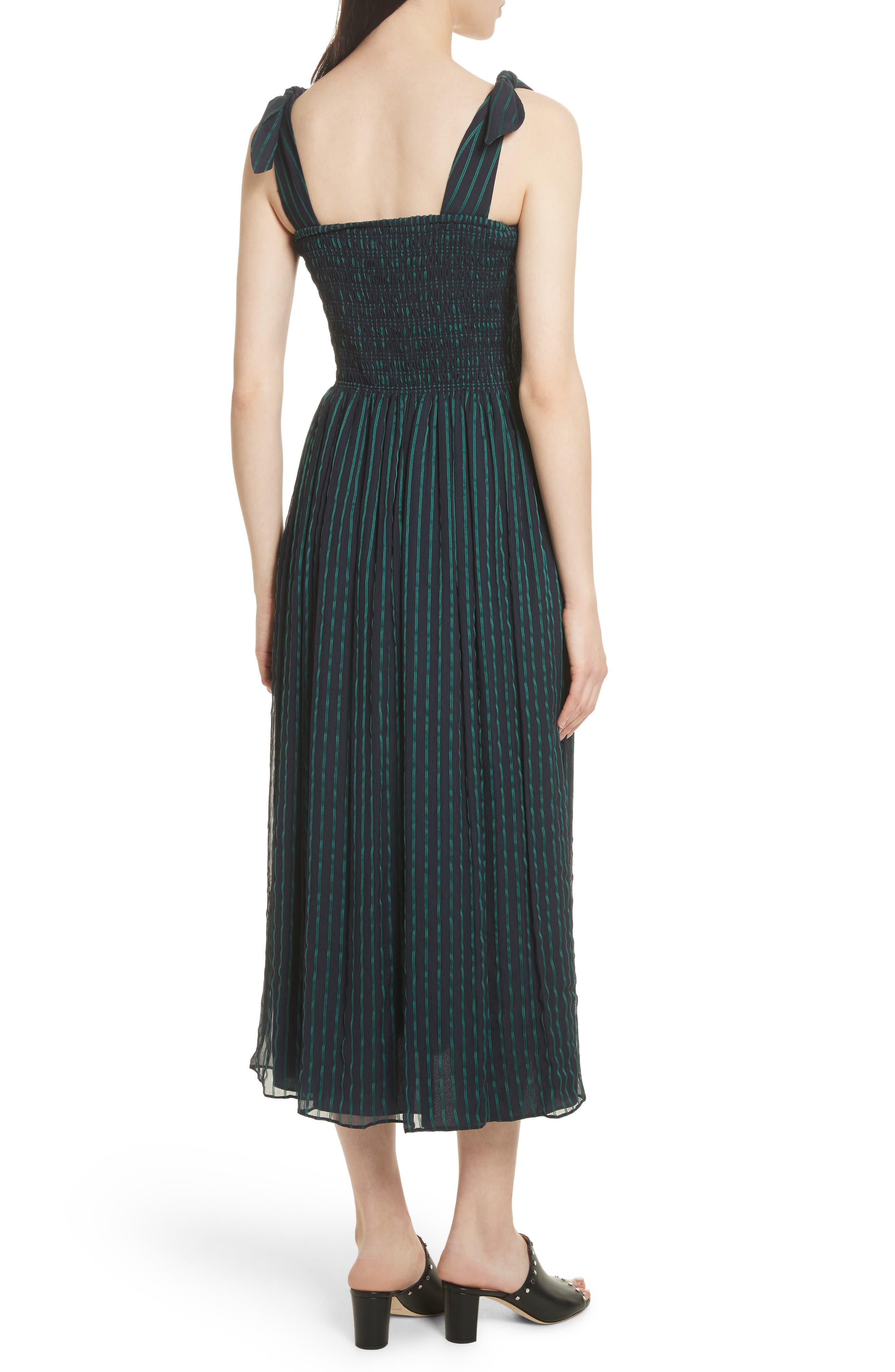 Stripe Chiffon Dress,                             Alternate thumbnail 2, color,                             470
