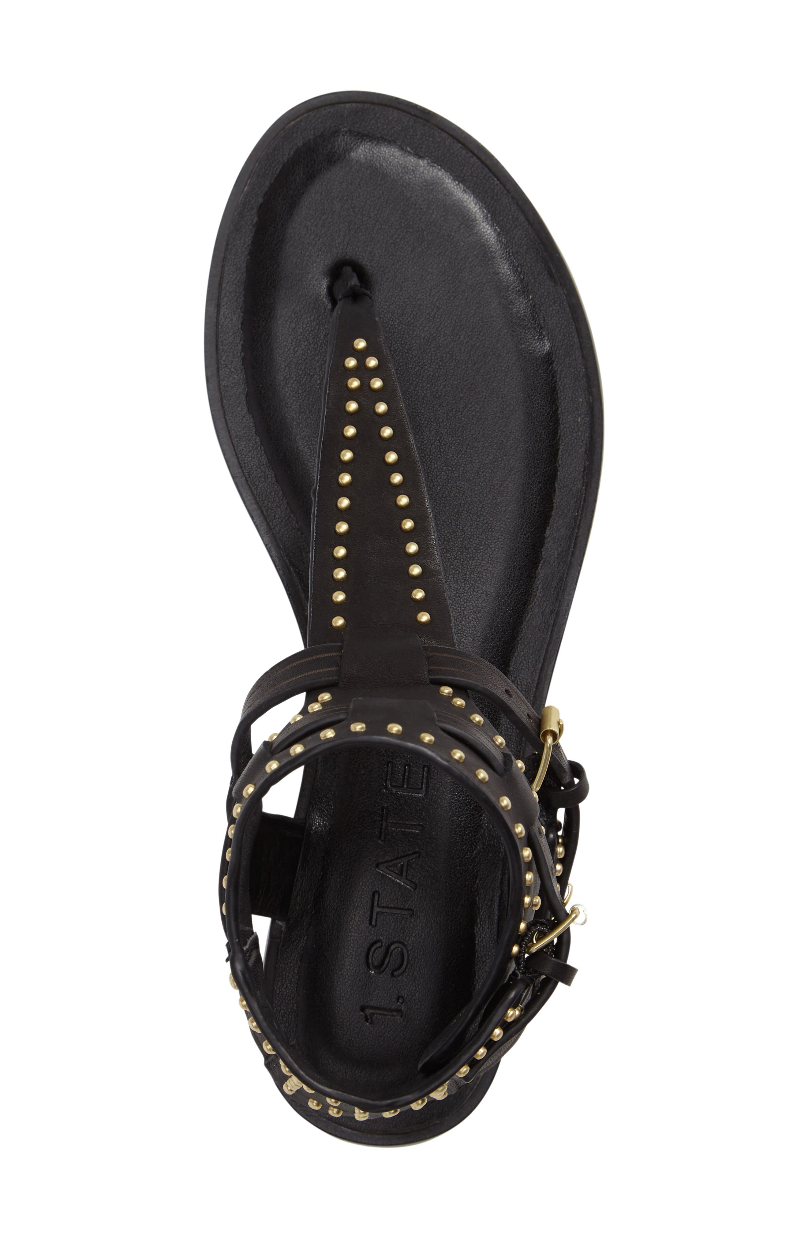 Lamanna Ankle Strap Sandal,                             Alternate thumbnail 3, color,                             001