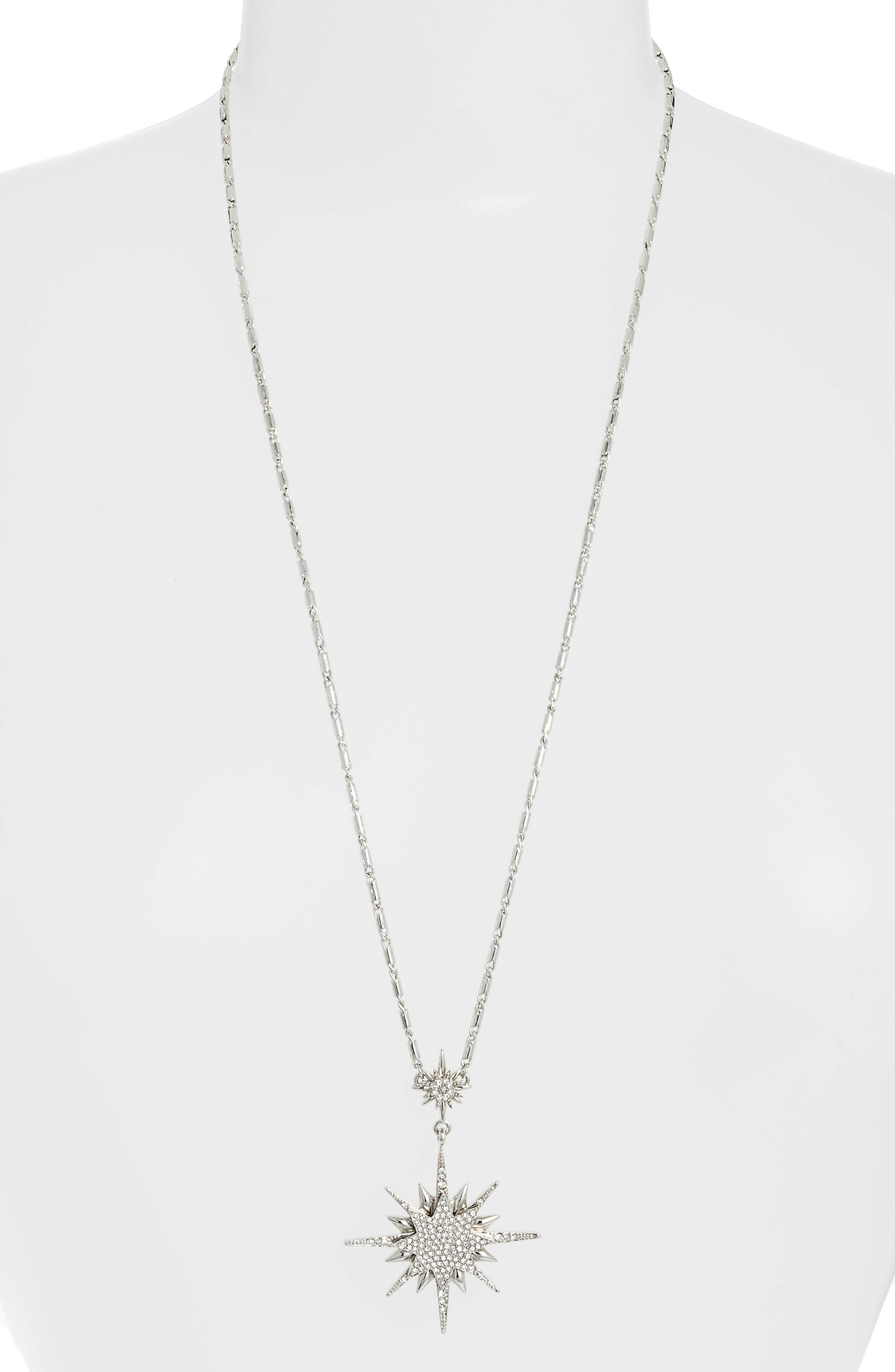 Crystal Starburst Pendant Necklace,                         Main,                         color, 040