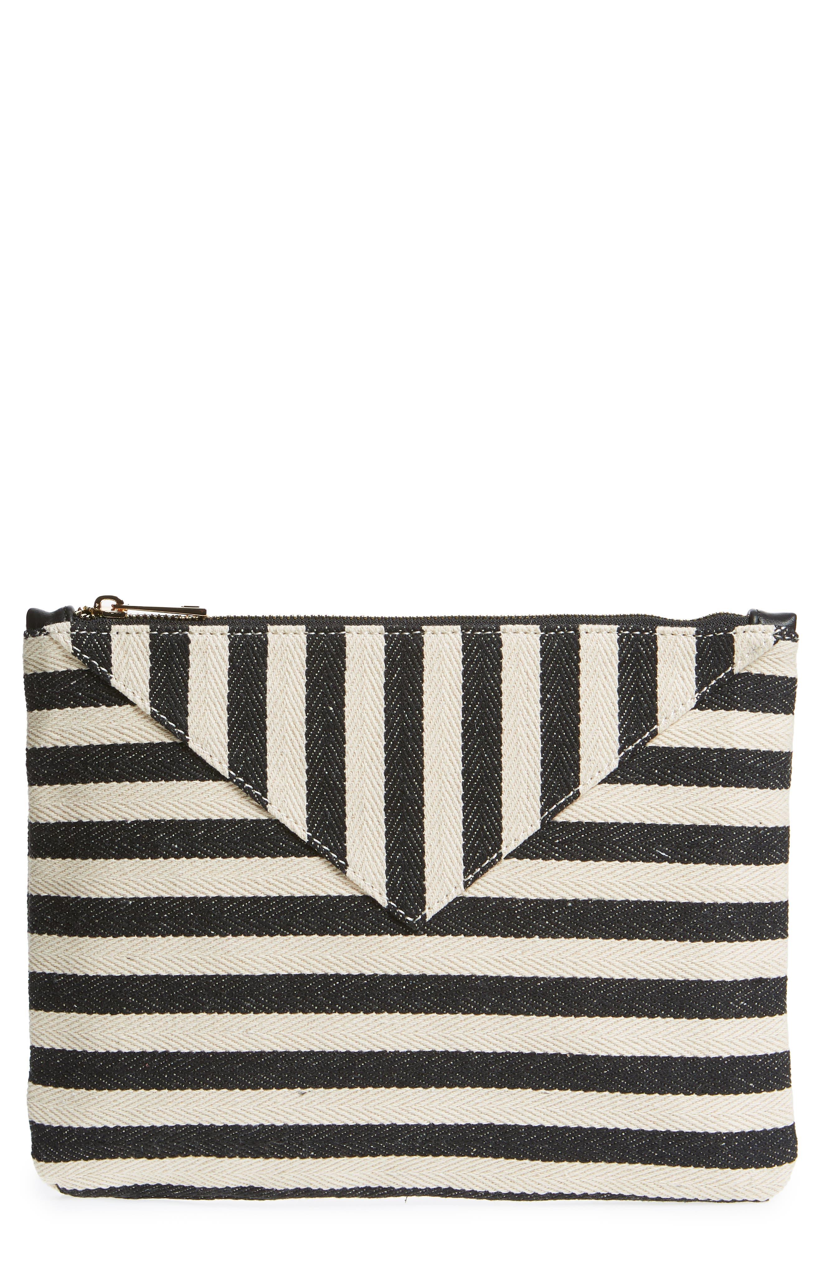 Mini Panel Stripe Pouch,                         Main,                         color,