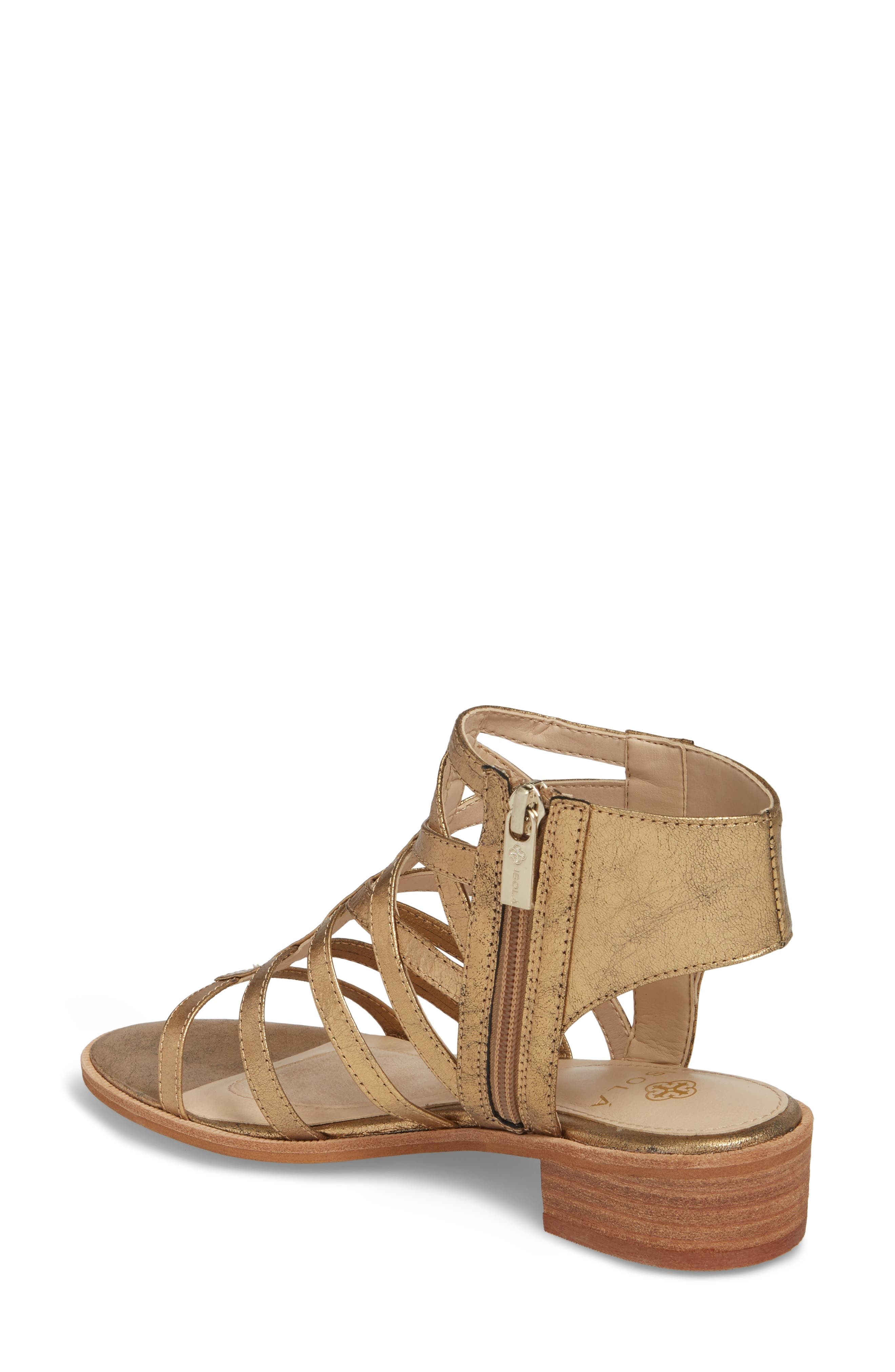 Genesis Cage Sandal,                             Alternate thumbnail 2, color,                             OLD GOLD LEATHER